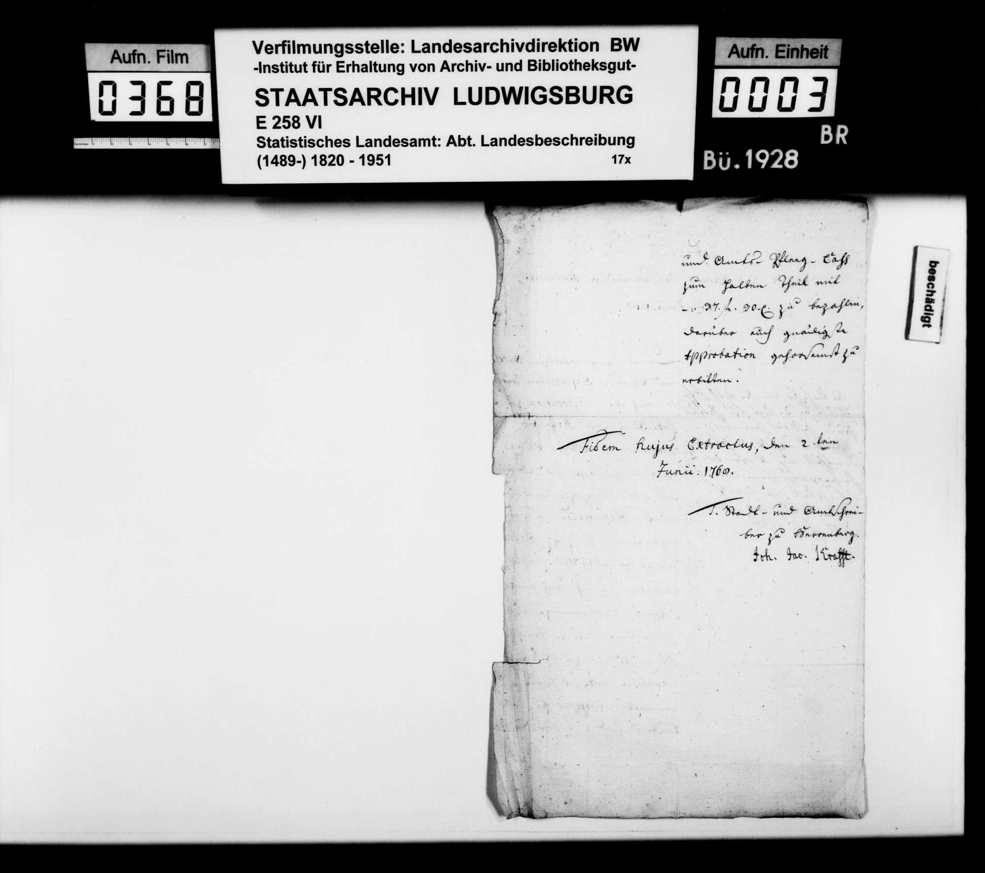 Verschiedene Belege zur Geschichte im Oberamtsbezirk, Bild 2