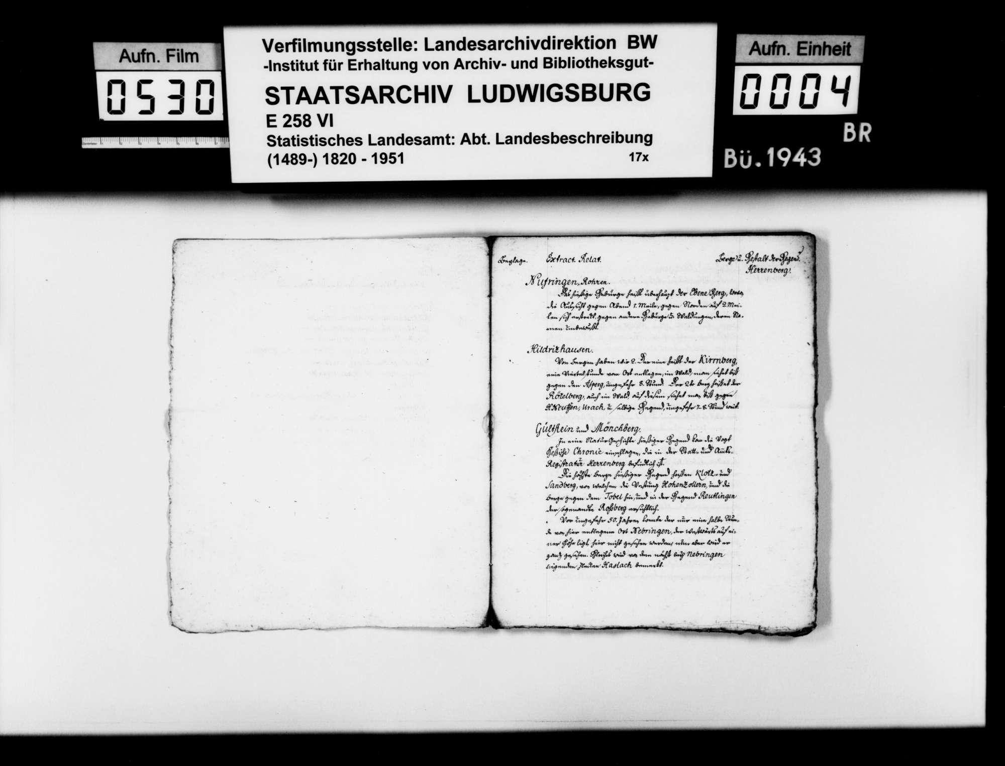 Forschungen des Stuttgarter Gymnasialprofessors Gottlieb Friedrich Rösler zur Naturgeschichte des (alten) Oberamts Herrenberg:, Bild 3