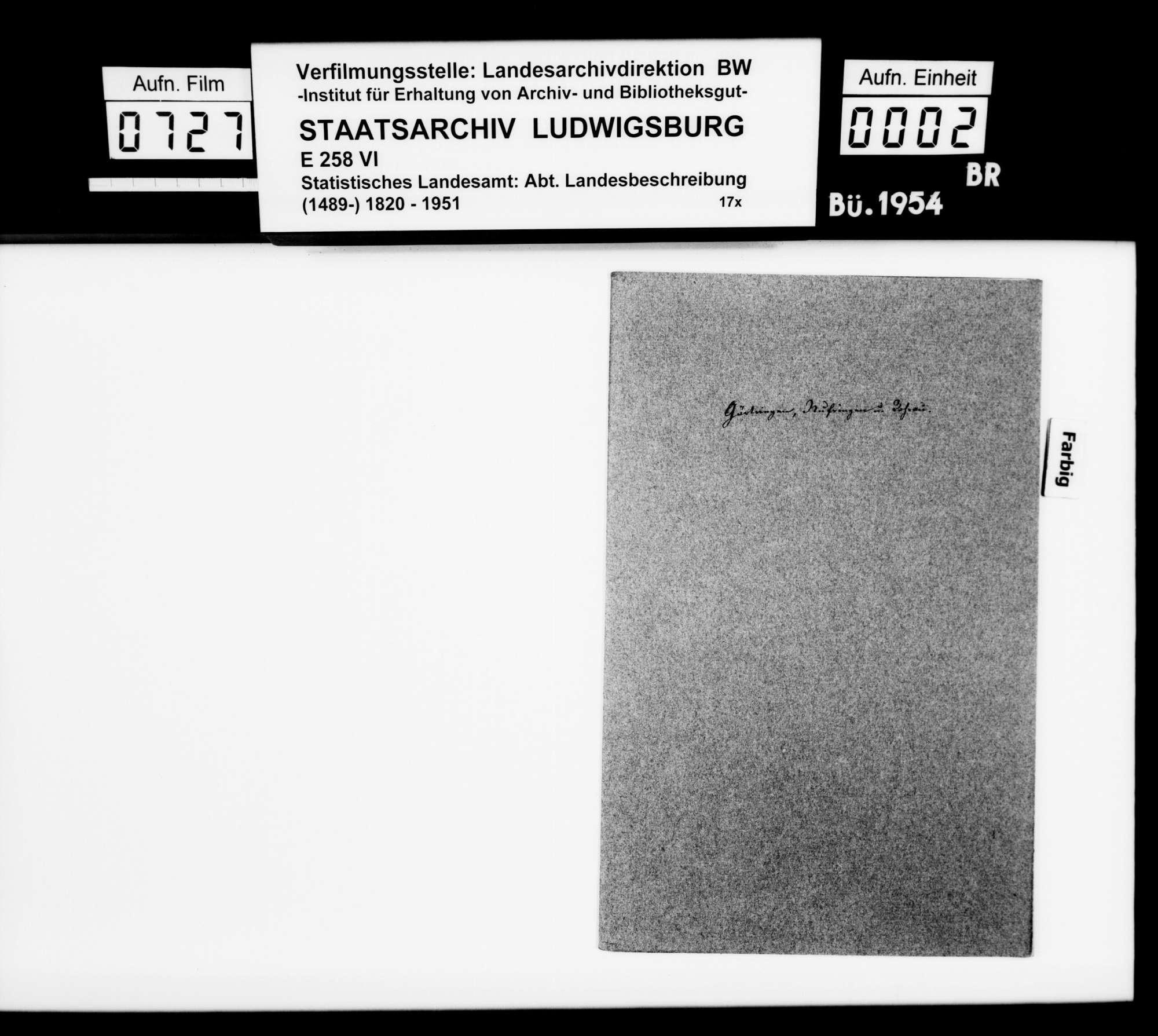 Beschreibung der Gemeinden Gärtringen, Nufringen und Rohrau [durch den Finanzassessor Karl Eduard Paulus], Bild 1