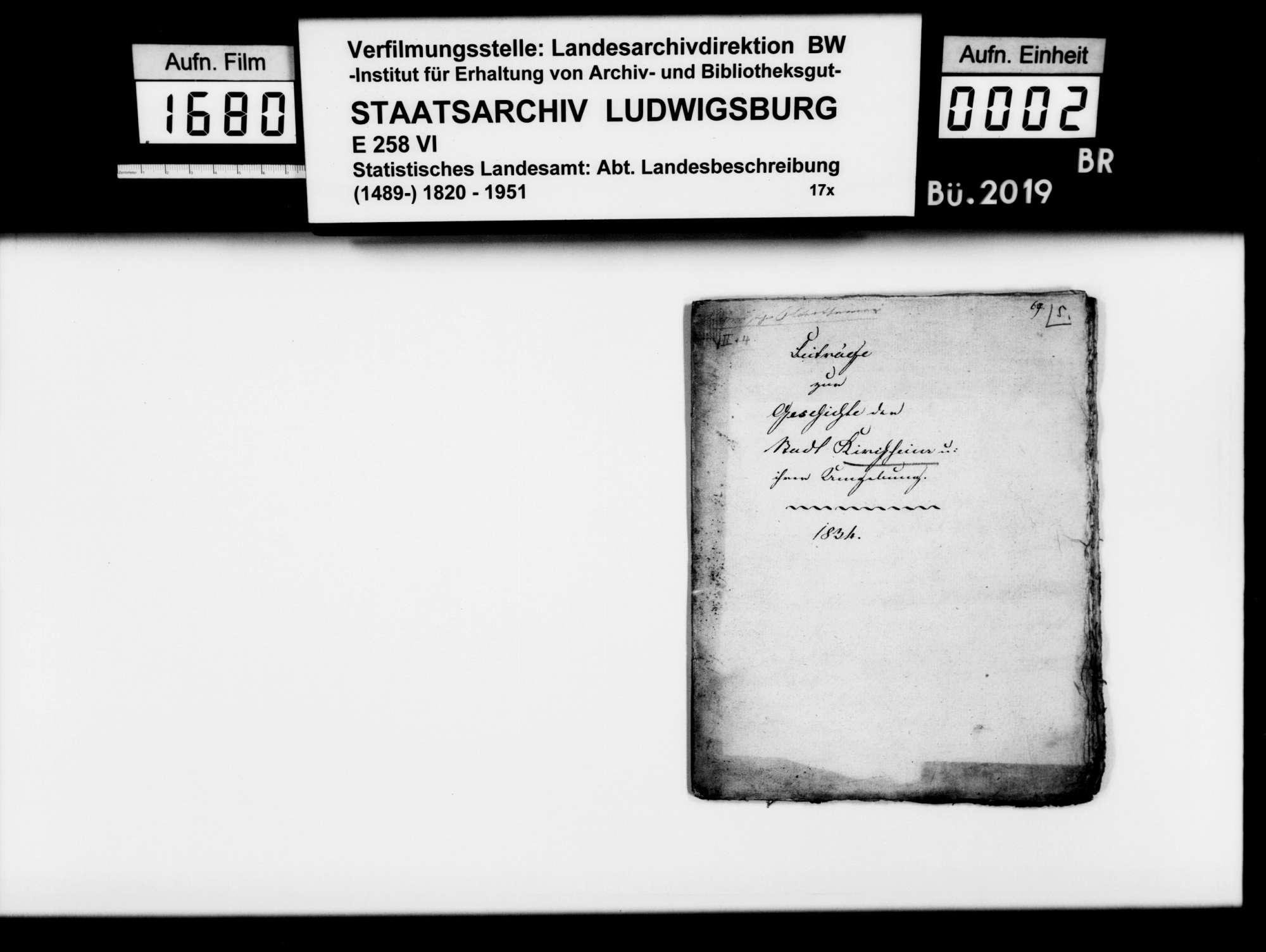Beiträge zur Geschichte der Stadt Kirchheim und ihrer Umgebung, von Riecker [vgl. Heyd 5012], Bild 1
