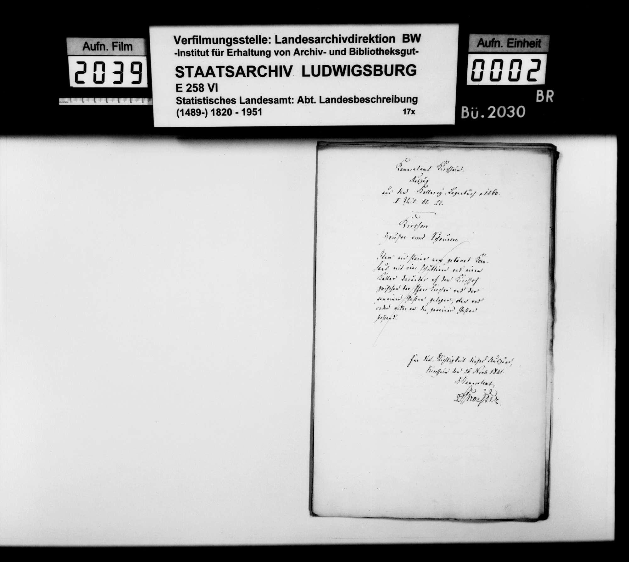 Auszüge aus Amtsbüchern zur Geschichte einzelner Oberamtsorte, Bild 1