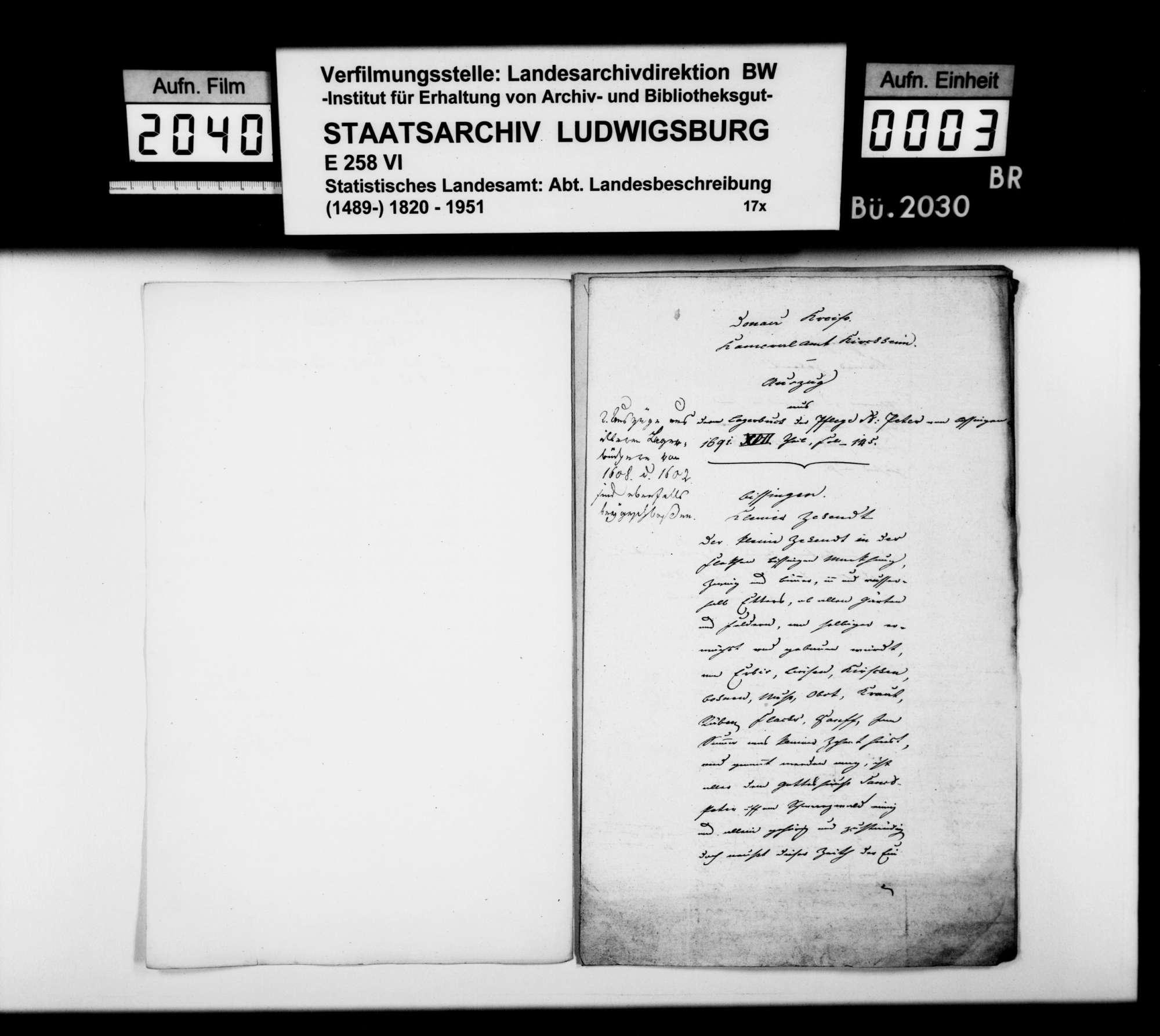 Auszüge aus Amtsbüchern zur Geschichte einzelner Oberamtsorte, Bild 2