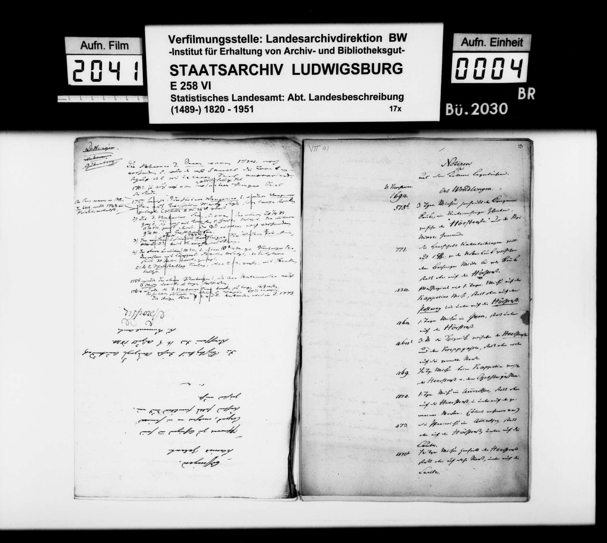 Auszüge aus Amtsbüchern zur Geschichte einzelner Oberamtsorte, Bild 3