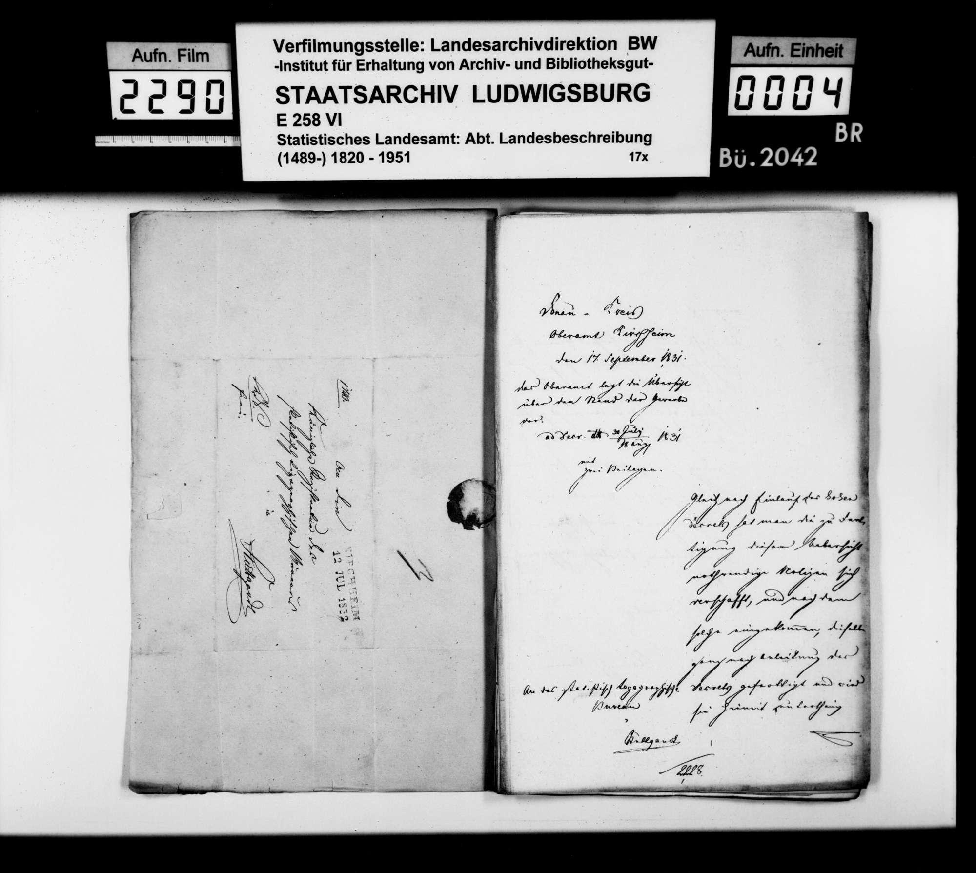 Übersicht über den Stand der Gewerbe im Oberamt nach dem Gewerbekataster von 1829, Bild 3