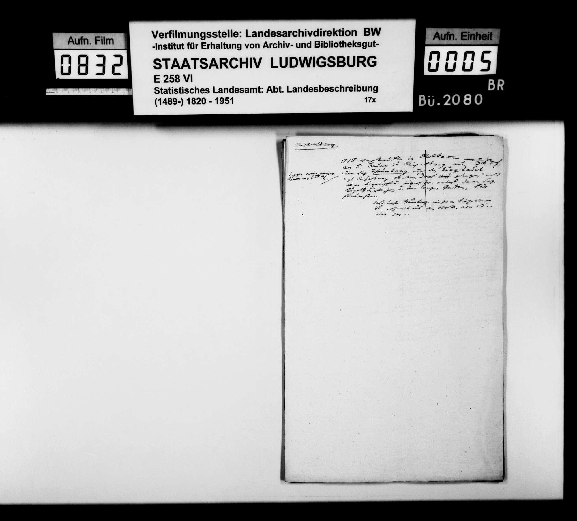 Manuskript und Notizen [des Finanzassessors Moser] zu Teil B (Ortsbeschreibungen) der OAB, Bild 3