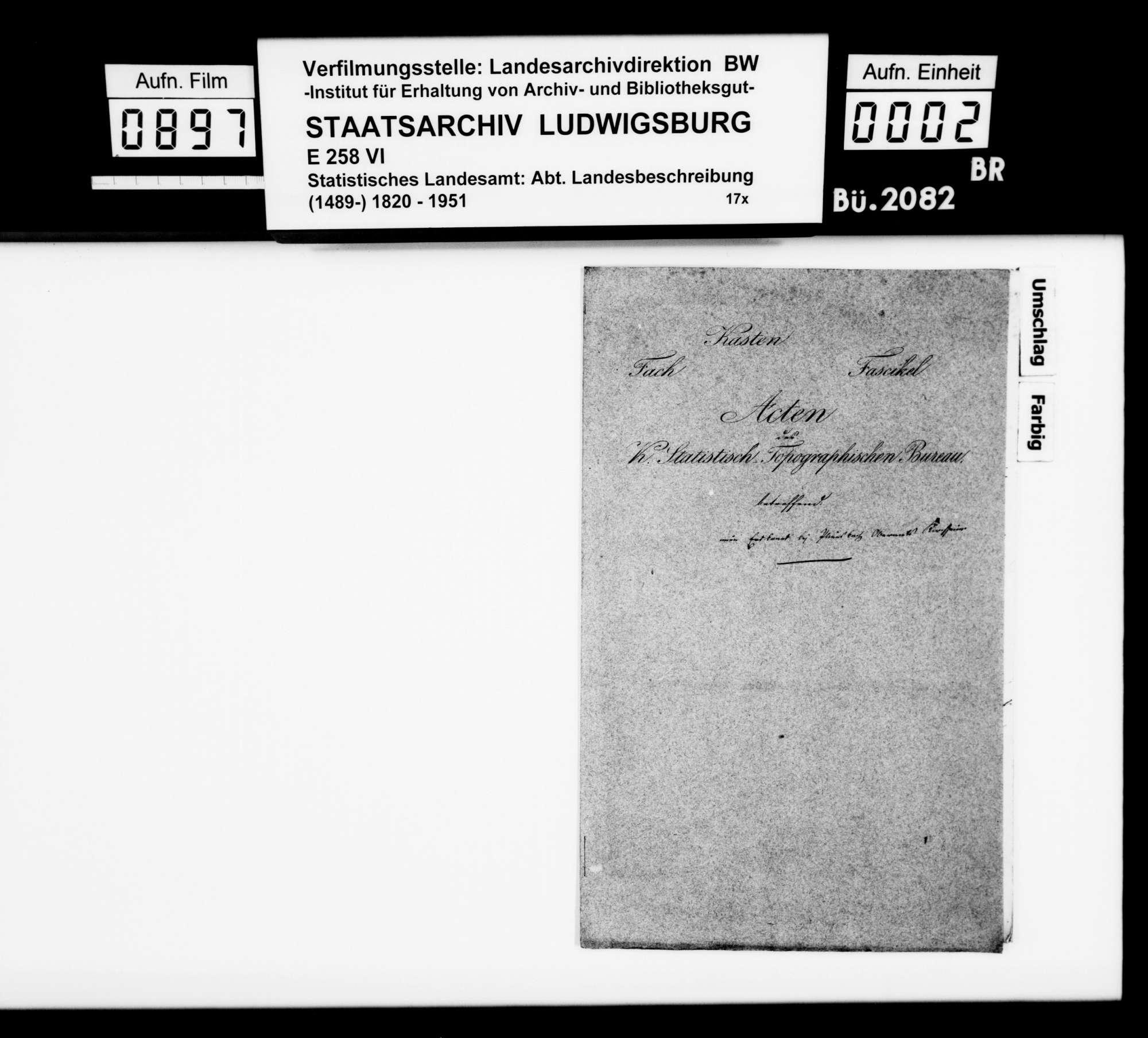 Berichte des Oberamtsarztes Dr. Hauff und des OAmanns von Knapp sowie des OAsarztes Dr. von Hartmann aus Göppingen über einen Erd- oder Schieferbrand zwischen Pliensbach und Boll, Bild 1