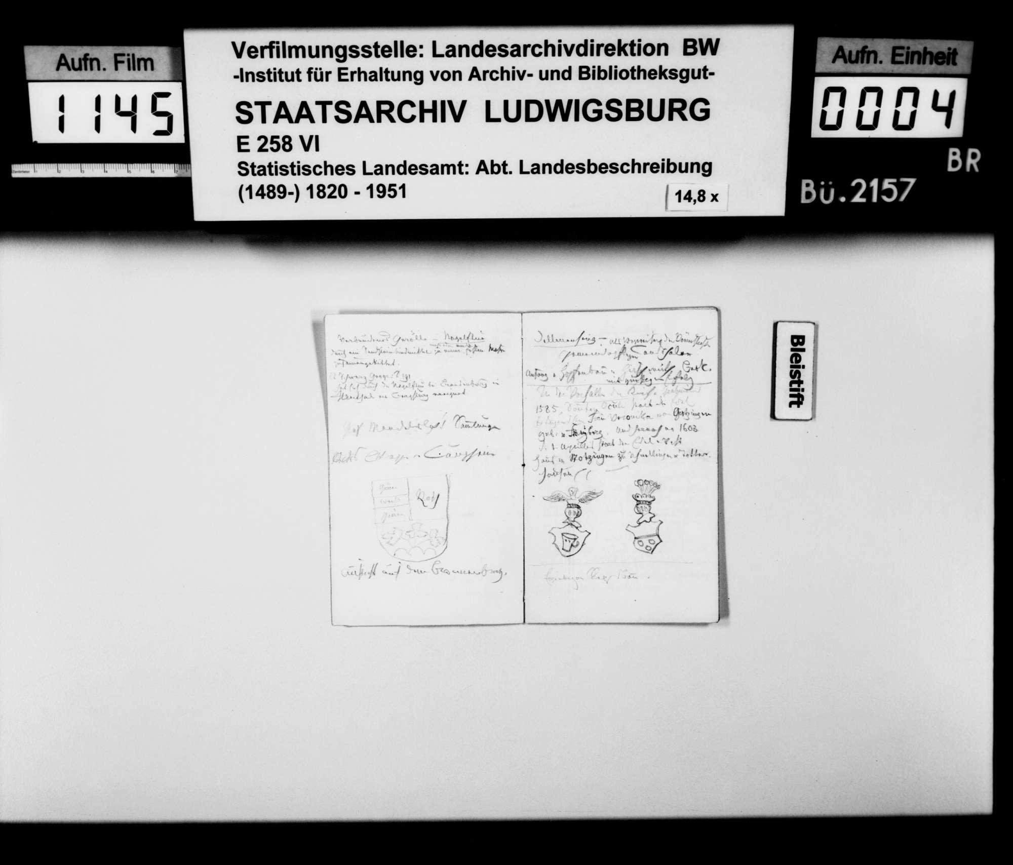 Notizbuch des Katasterkassiers F. Breunlin aus Stuttgart [vgl. Hof- und Staatshandbuch 1831, S. 147: Kanzleiassistent der Oberrechnungskammer B.], Bild 3