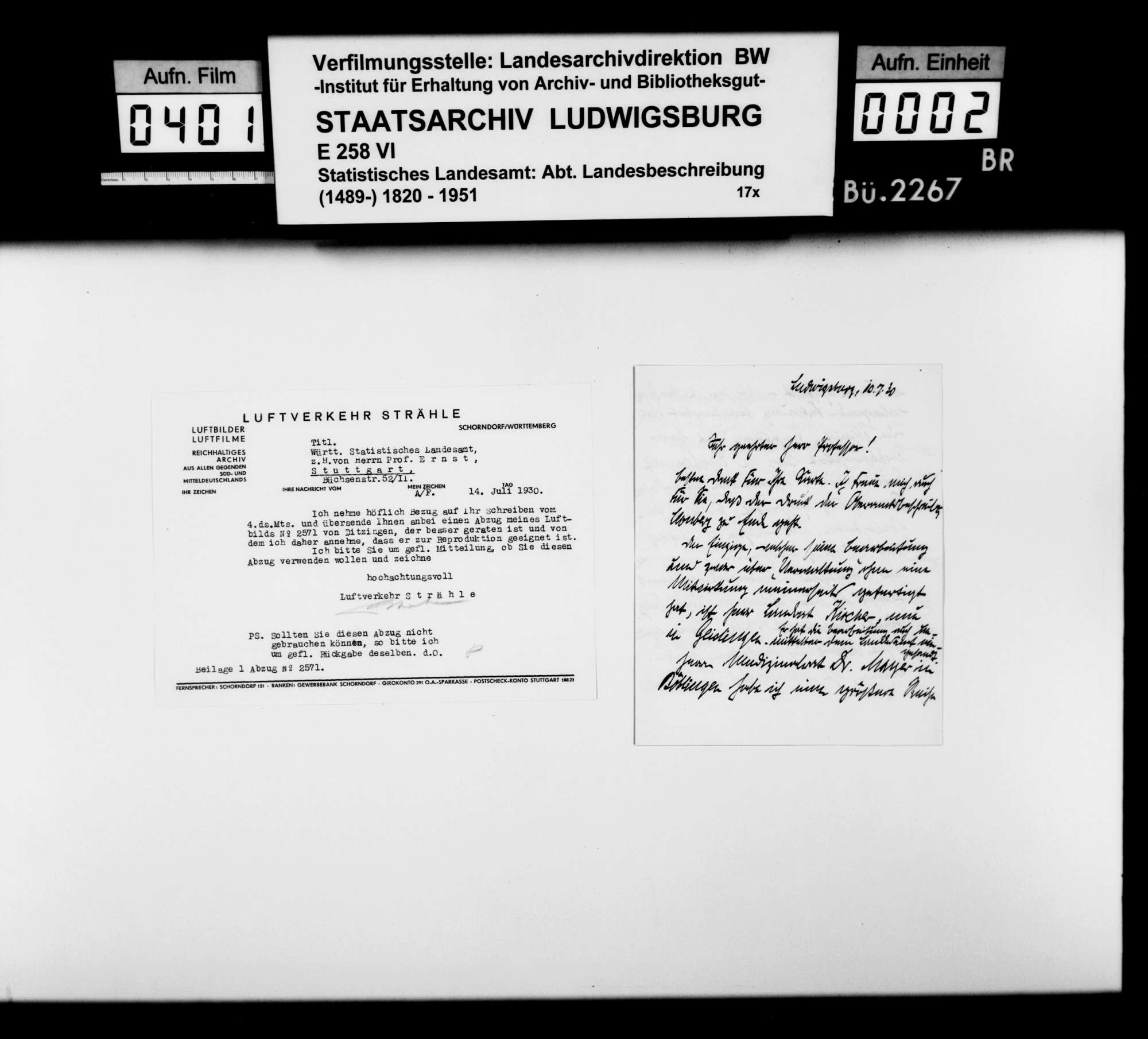Druckvorlagen und Probedrucke der Abbildungen (Fotos und Zeichnungen) für die Neubearbeitung der OAB 1930, Bild 1