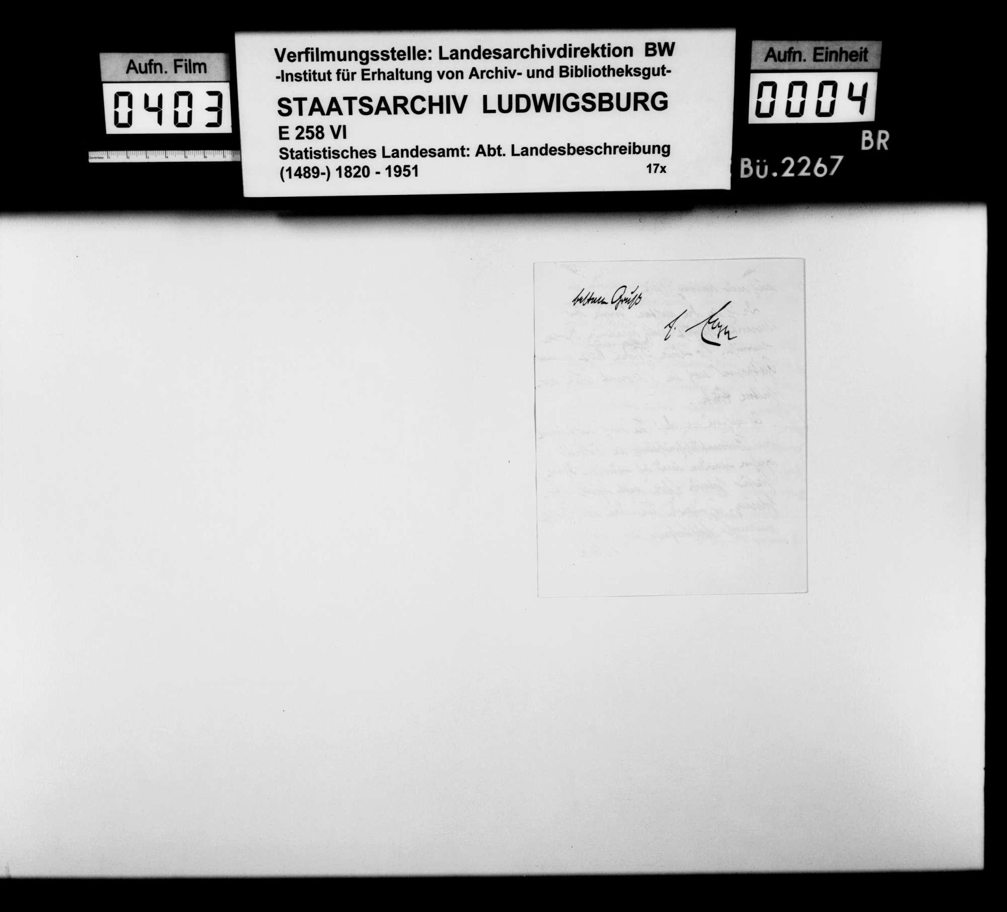 Druckvorlagen und Probedrucke der Abbildungen (Fotos und Zeichnungen) für die Neubearbeitung der OAB 1930, Bild 3