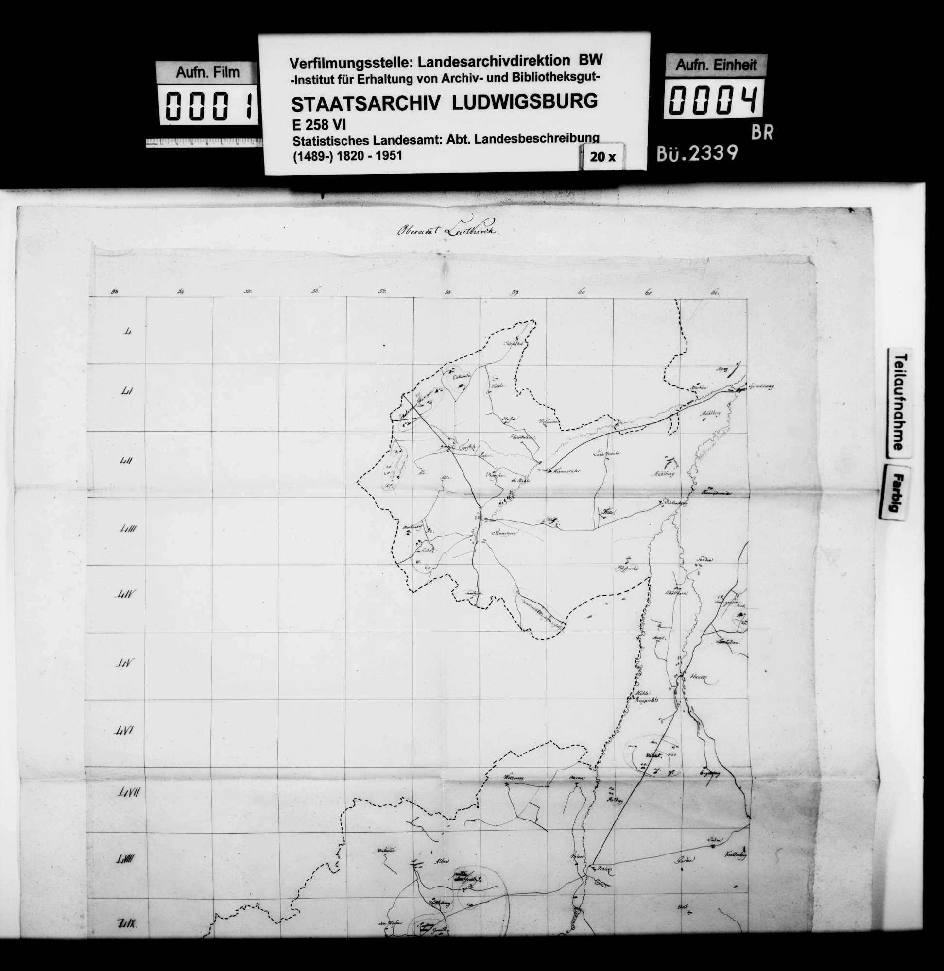 Revidierte Skizzen der Karten zum topographischen Atlas von Württemberg, betr. den Oberamtsbezirk Leutkirch, Bild 3