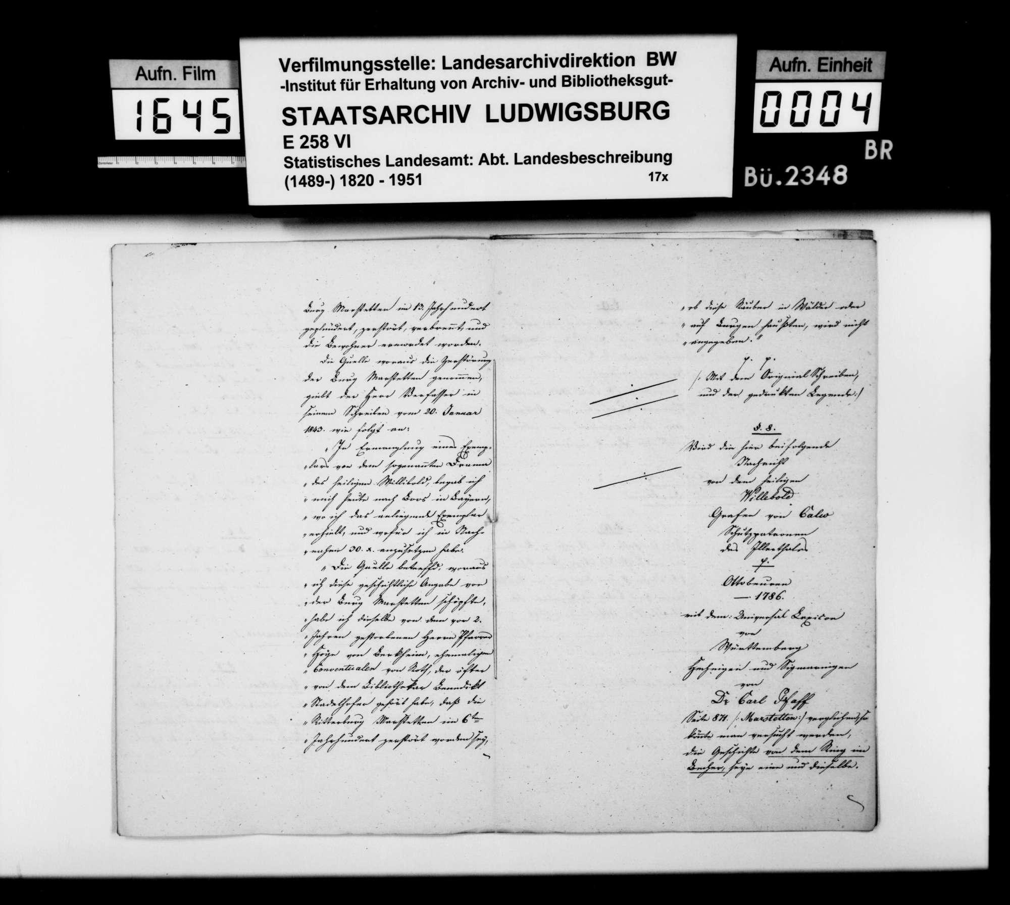Notizen des Registrators Schabet aus Wurzach auf Fragen des STBs zur Ergänzung der OAB, Bild 3