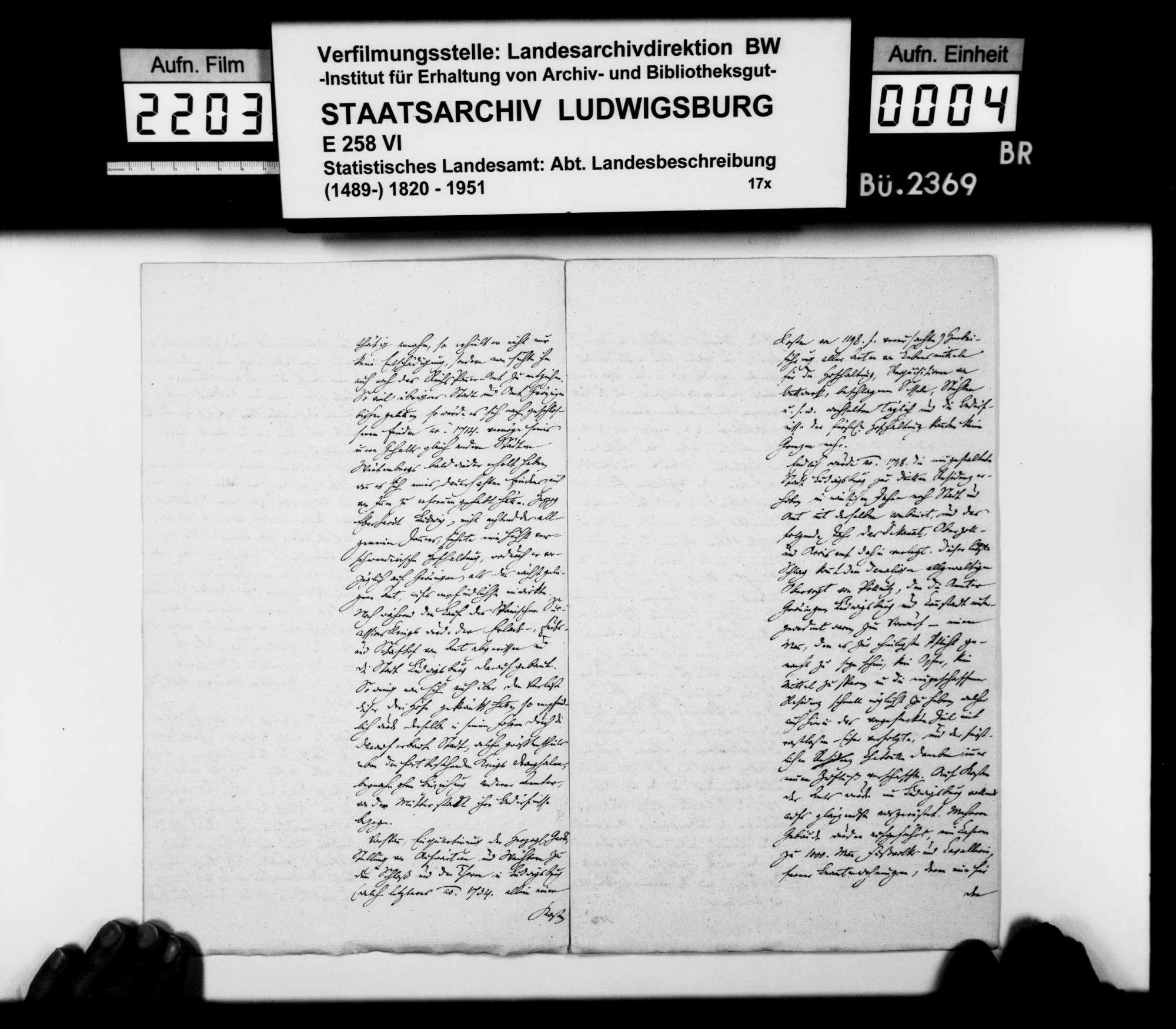 Auszug aus einer Denkschrift zur Geschichte von Stadt und Amt Markgröningen, o.Verf., o.Dat., Bild 3