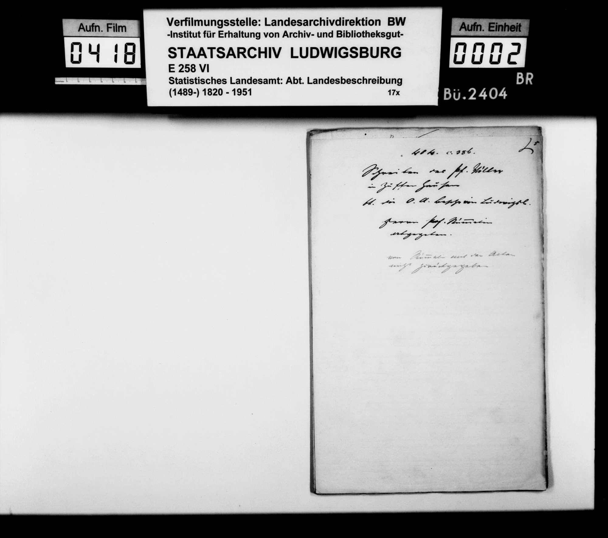 Desgleichen von Zuffenhausen, Bild 1