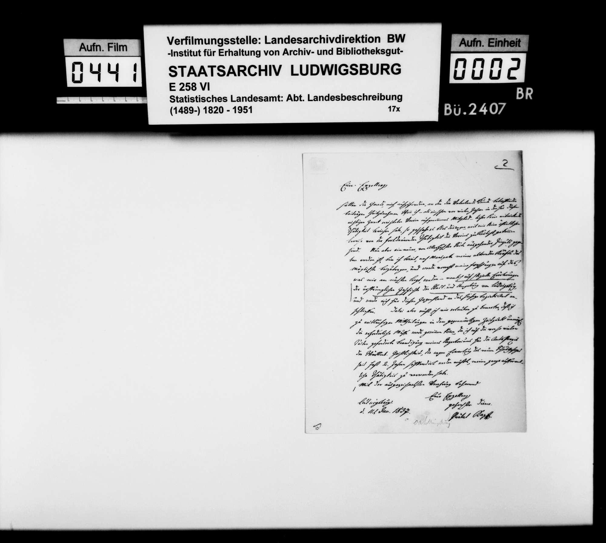 Korrespondenz mit verschiedenen Partnern zur römischen und mittelalterlichen Vergangenheit im Oberamtsbezirk, Bild 1