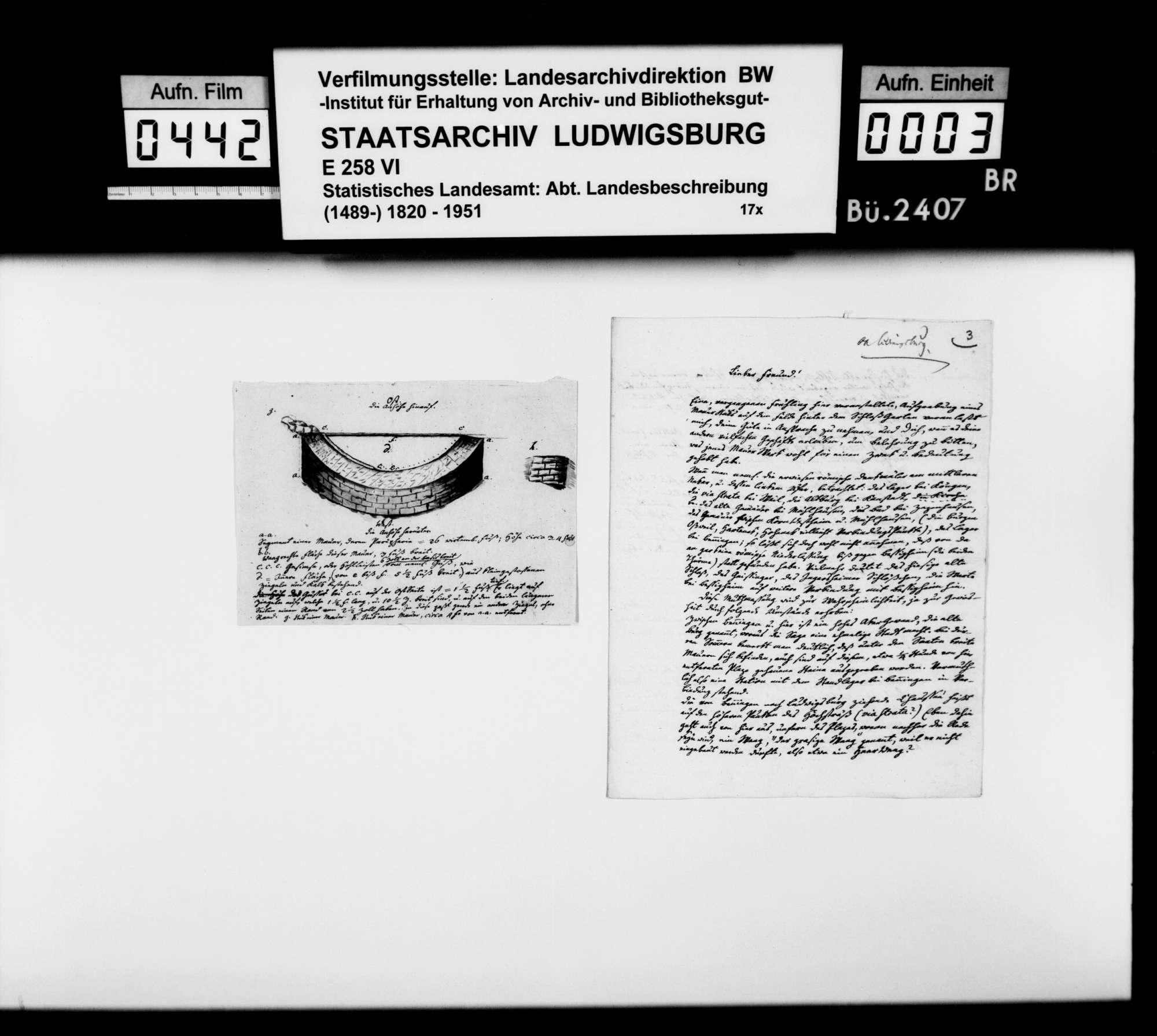 Korrespondenz mit verschiedenen Partnern zur römischen und mittelalterlichen Vergangenheit im Oberamtsbezirk, Bild 2