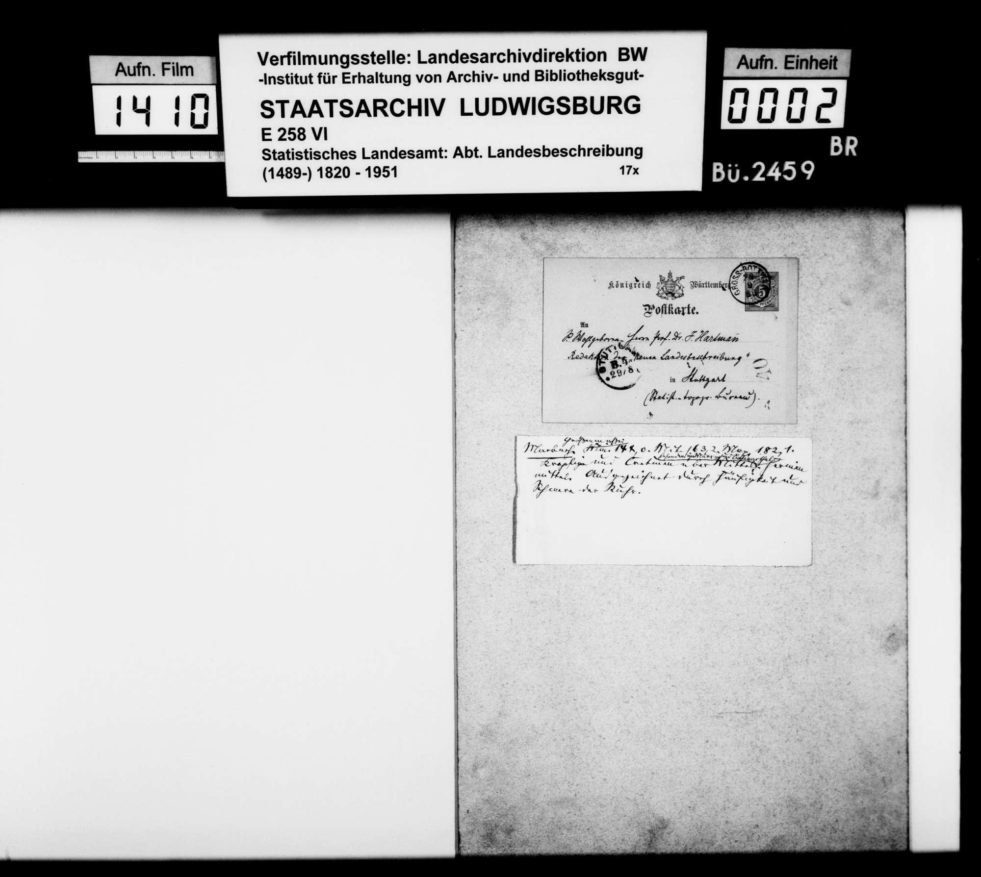 Materialsammlung für eine Neubearbeitung der OAB, Bild 1