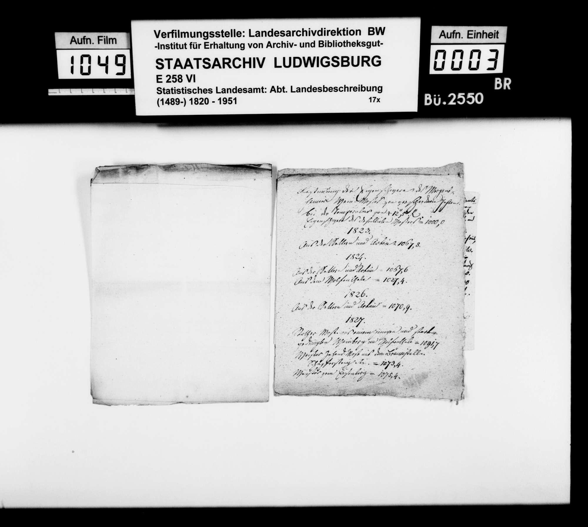 Notizen und Manuskriptfragmente [des OAsarztes Christian Friedrich Bauer] zu Weinbau, -qualität und -handel in Mergentheim 1821-1827, Bild 2