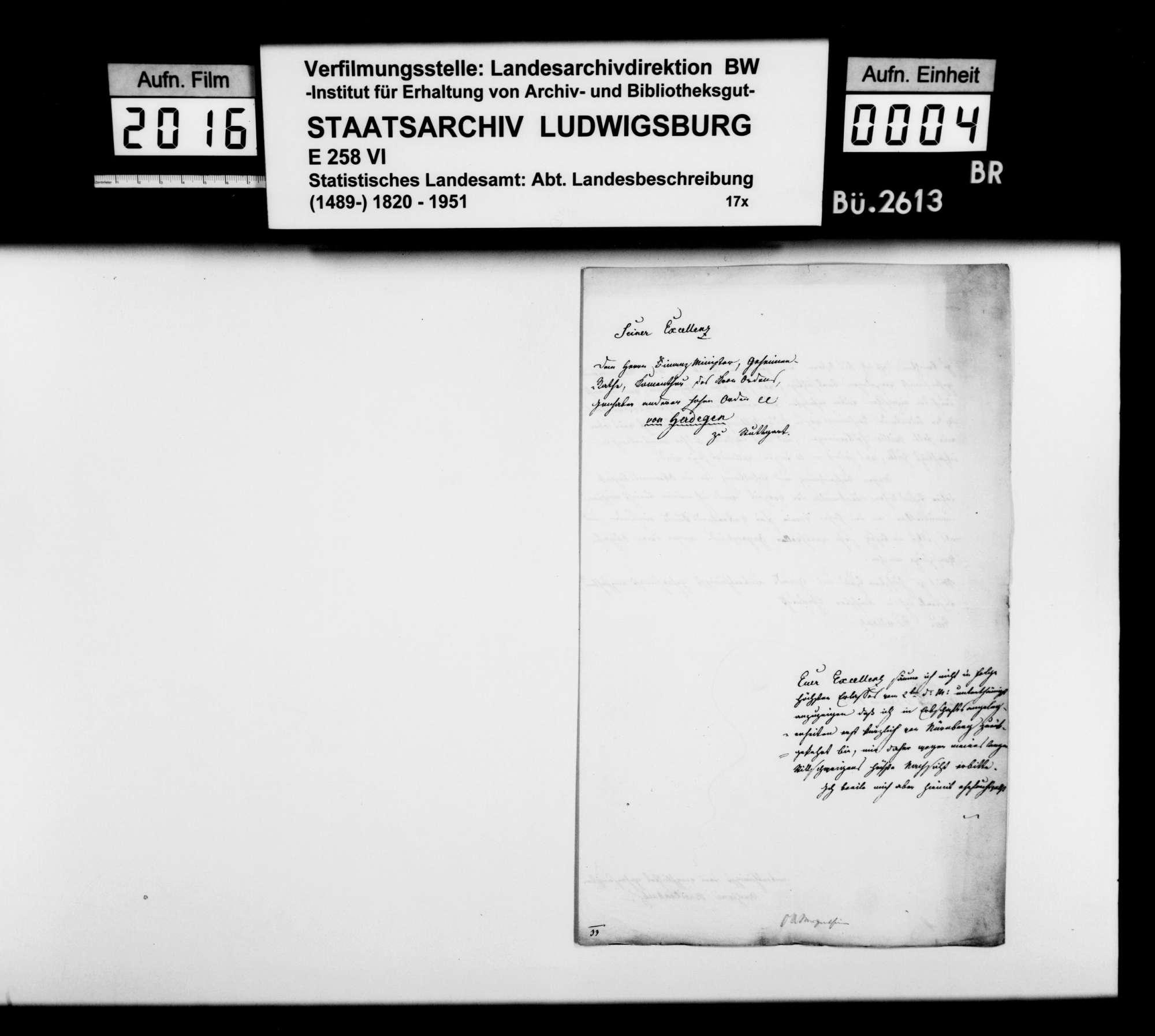 Korrespondenz mit dem Archivar Anton Breitenbach aus Mergentheim und dessen historiographische Beiträge zur OAB, Bild 3