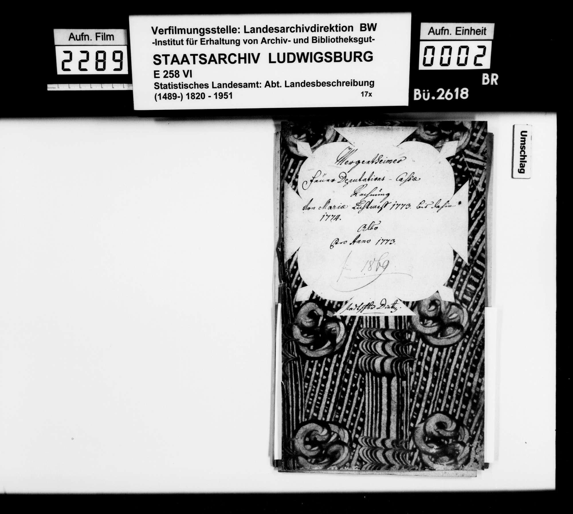 Notizen zu verschiedenen Themen, überwiegend aus der Sammlung des OAsarztes von Mergentheim Christian Friedrich Bauer, mit dem Nachlaß seines 1872 verstorbenen Sohnes Hermann erworben, Bild 1
