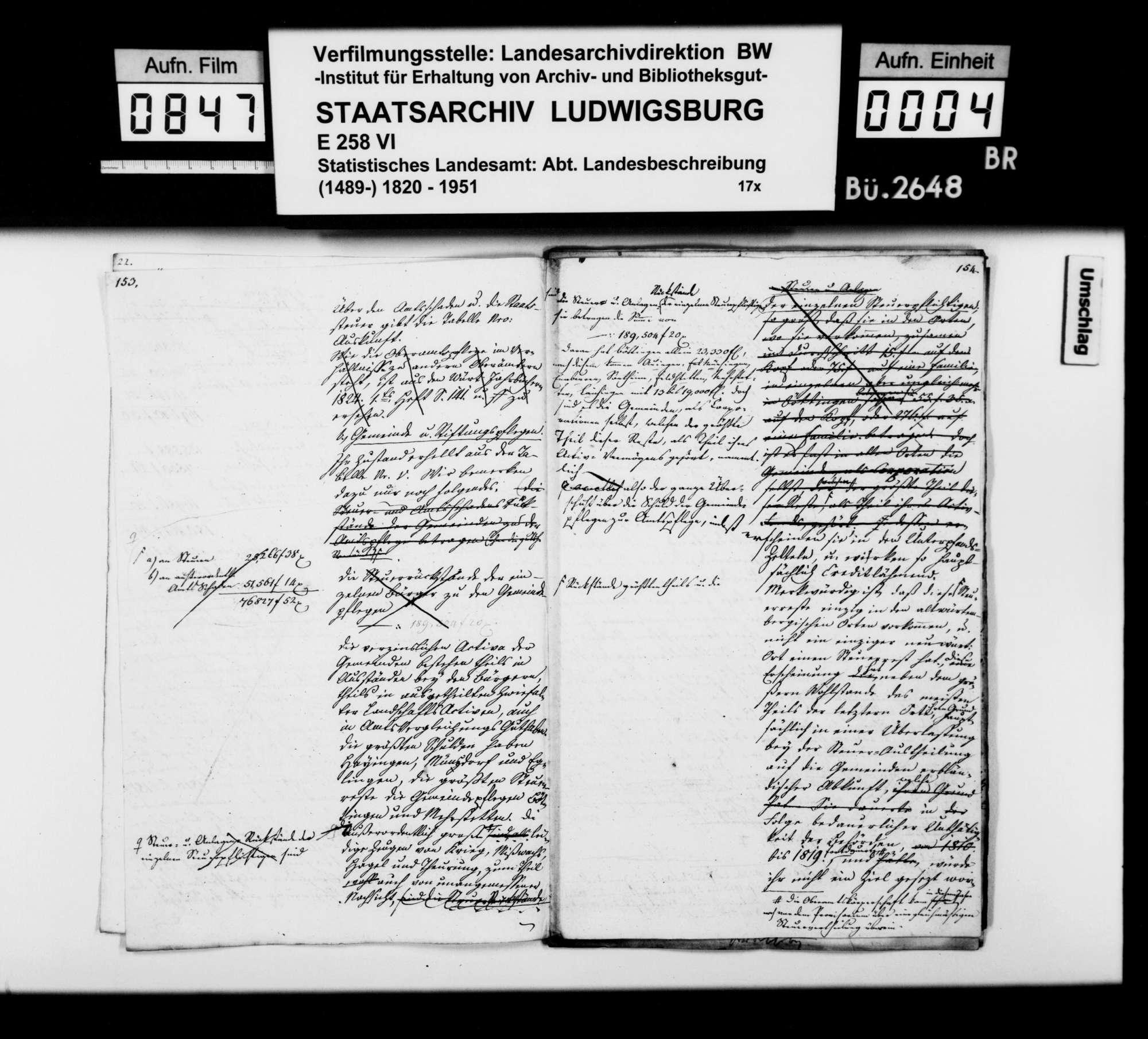 Arbeitsnotizen und Manuskriptentwürfe [von Johann Daniel Georg Memminger], Bild 3