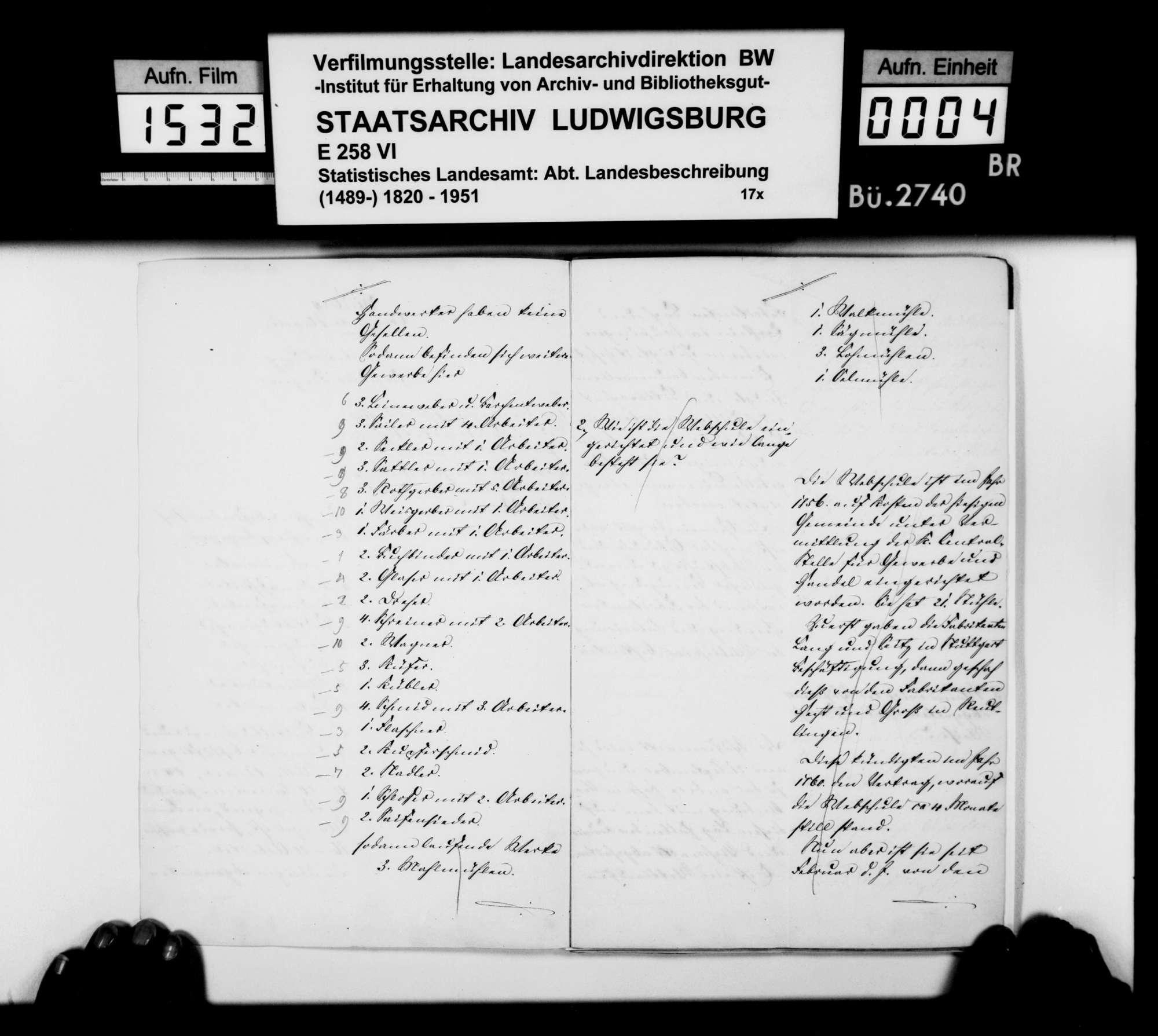 Gewerbestatistik des Oberamts und der Stadt Wildberg sowie Stiftungen in Wildberg, Bild 3