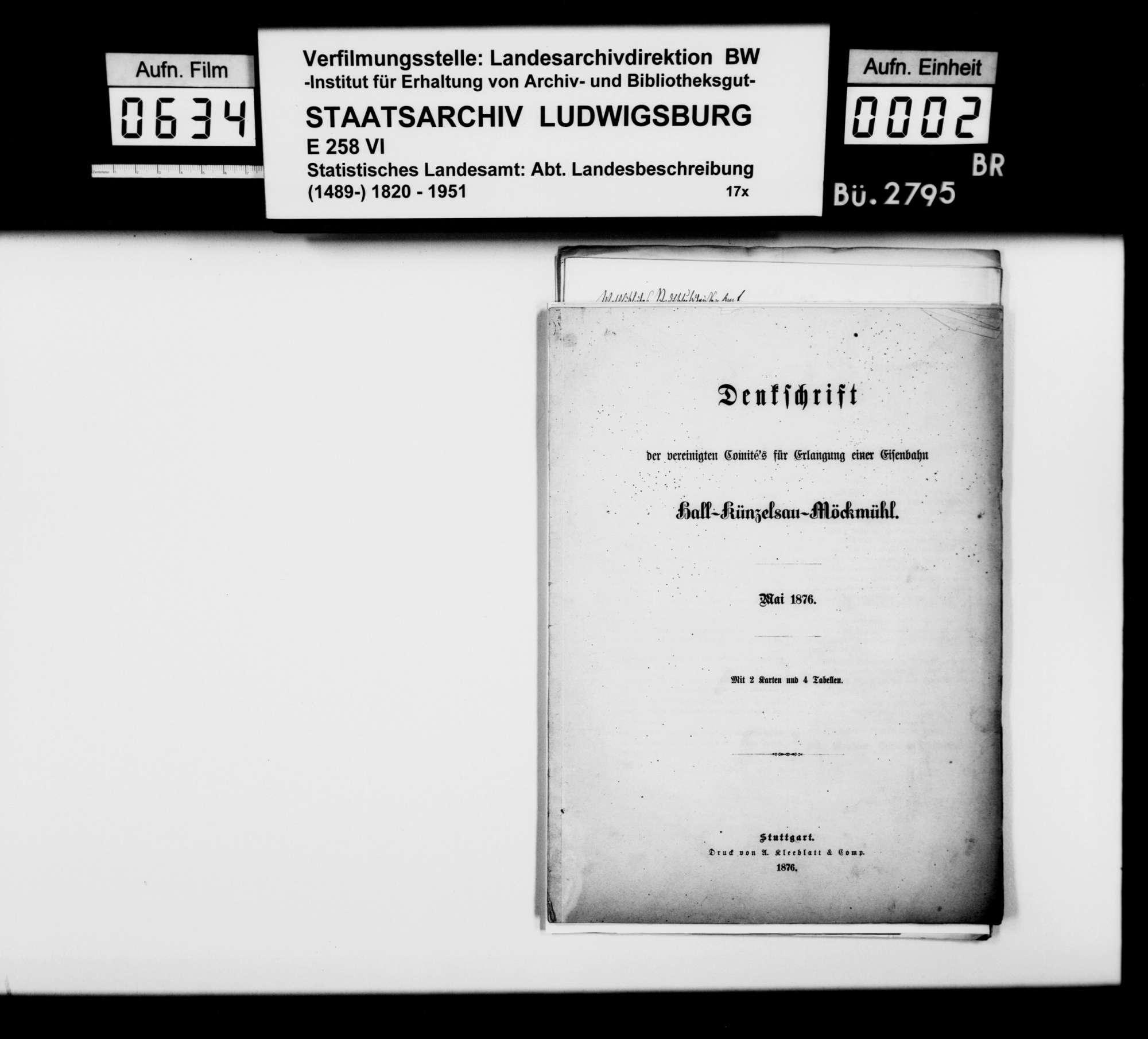 Nachrichtenakquisition des Finanzrats Roth aus Neuenstadt für die Bearbeitung der Geschichte von Möckmühl, Bild 1