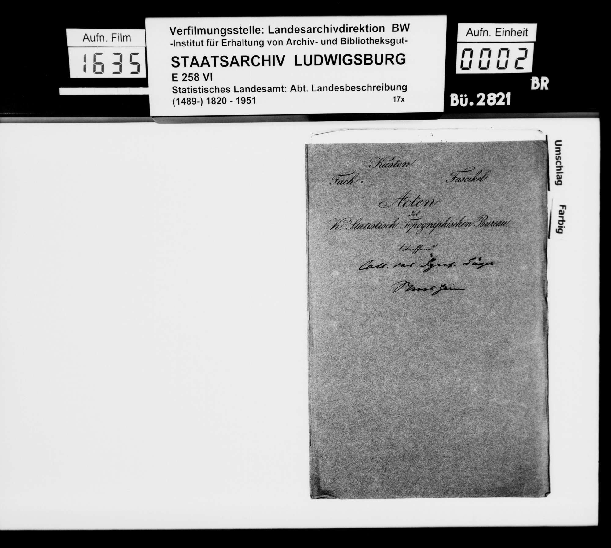 Kollektaneen des Finanzreferendärs Jäger zur mittelalterlichen Besitz- und Herrschaftsgeschichte im Oberamt, Bild 1