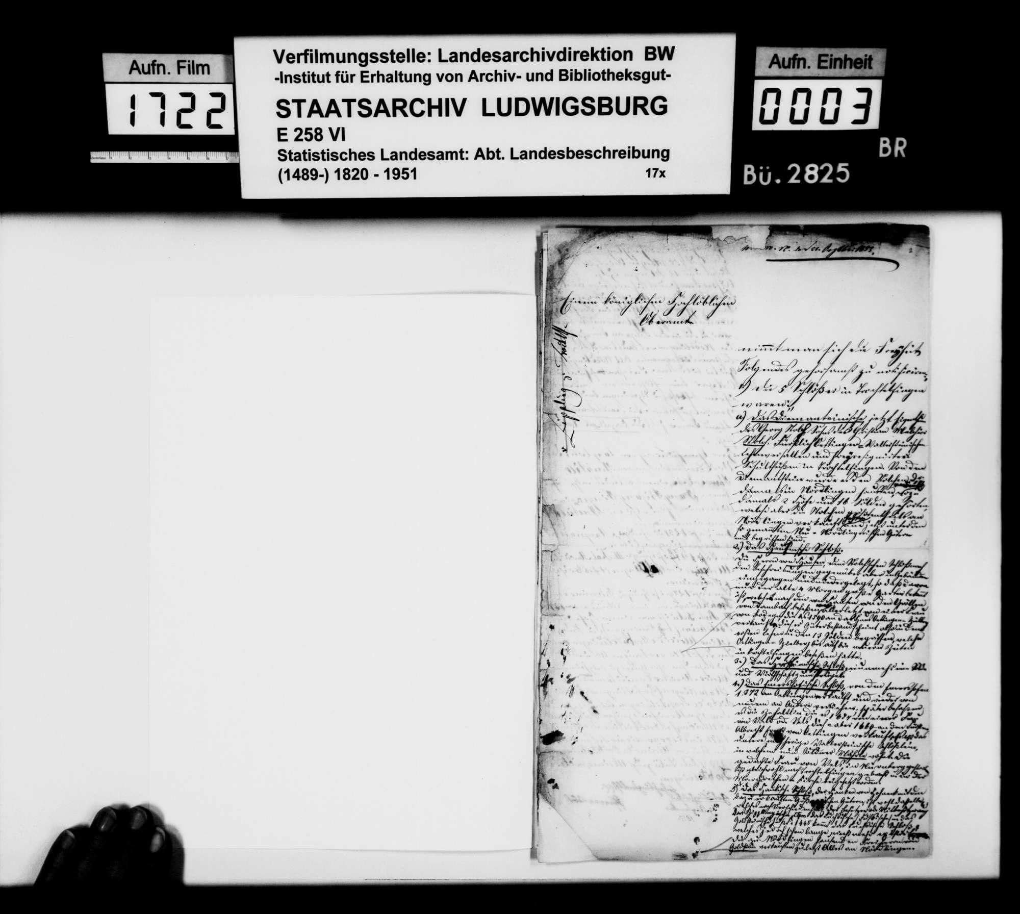 Beiträge des Pfarrers Abel aus Goldburghausen zur Historiographie des Oberamts, Bild 2