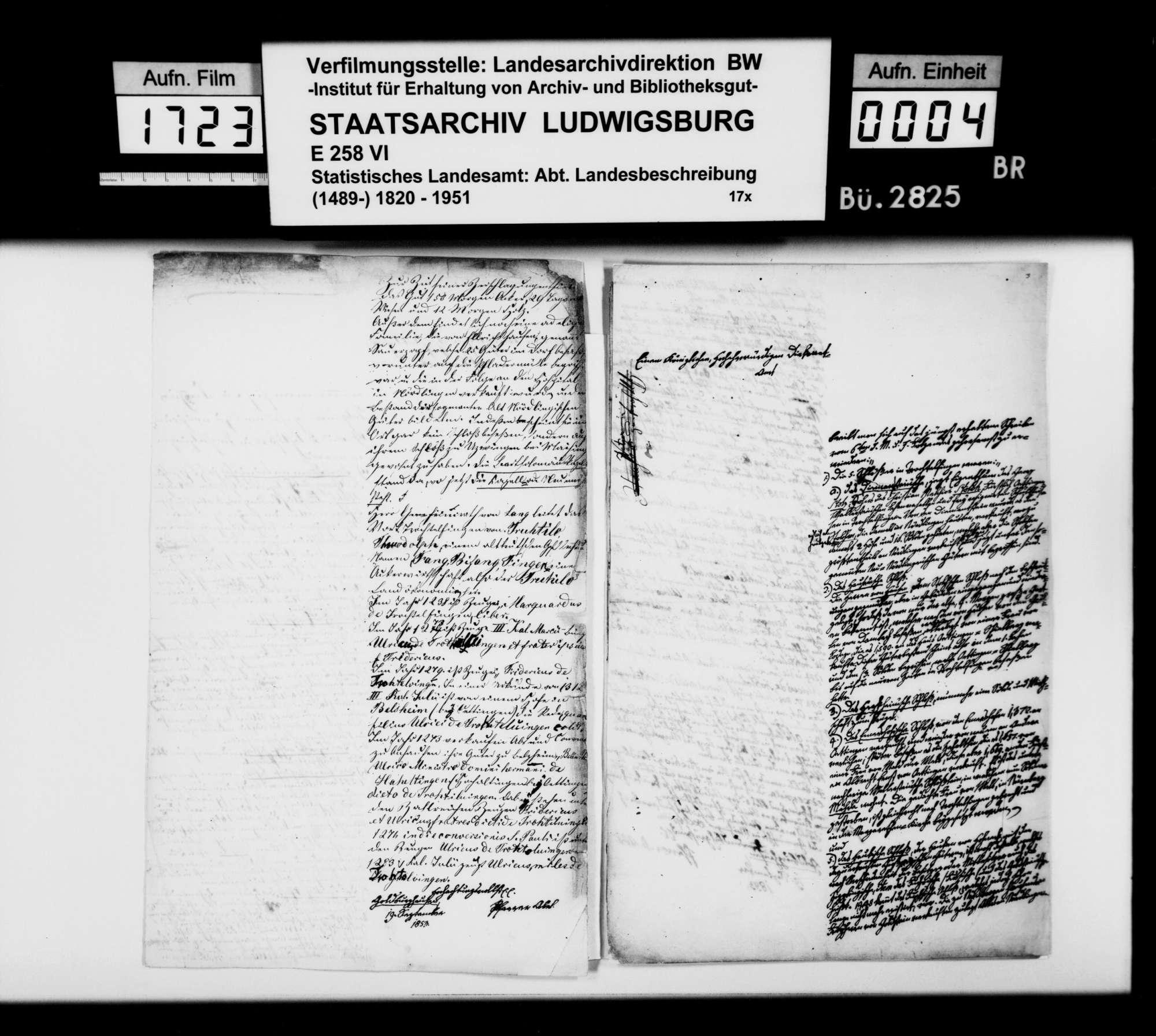 Beiträge des Pfarrers Abel aus Goldburghausen zur Historiographie des Oberamts, Bild 3