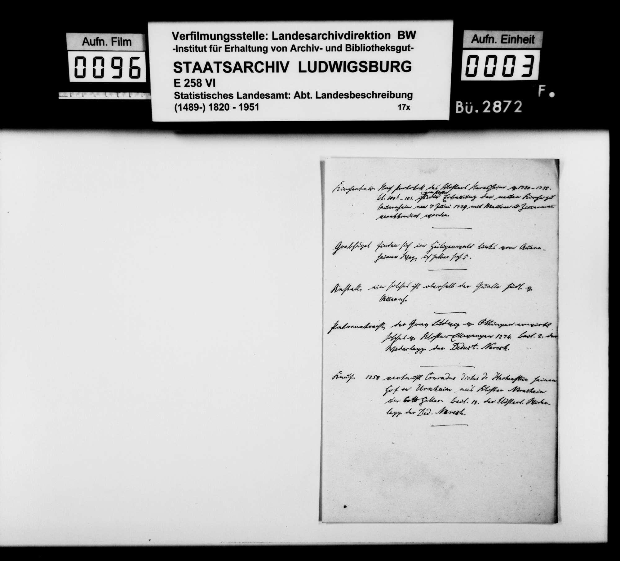 Altertümer, Geschichtliches und Rechtsverhältnisse in Auernheim, Bopfingen, Demmingen, Dunstelkingen und Hochstatter Hof, Bild 2