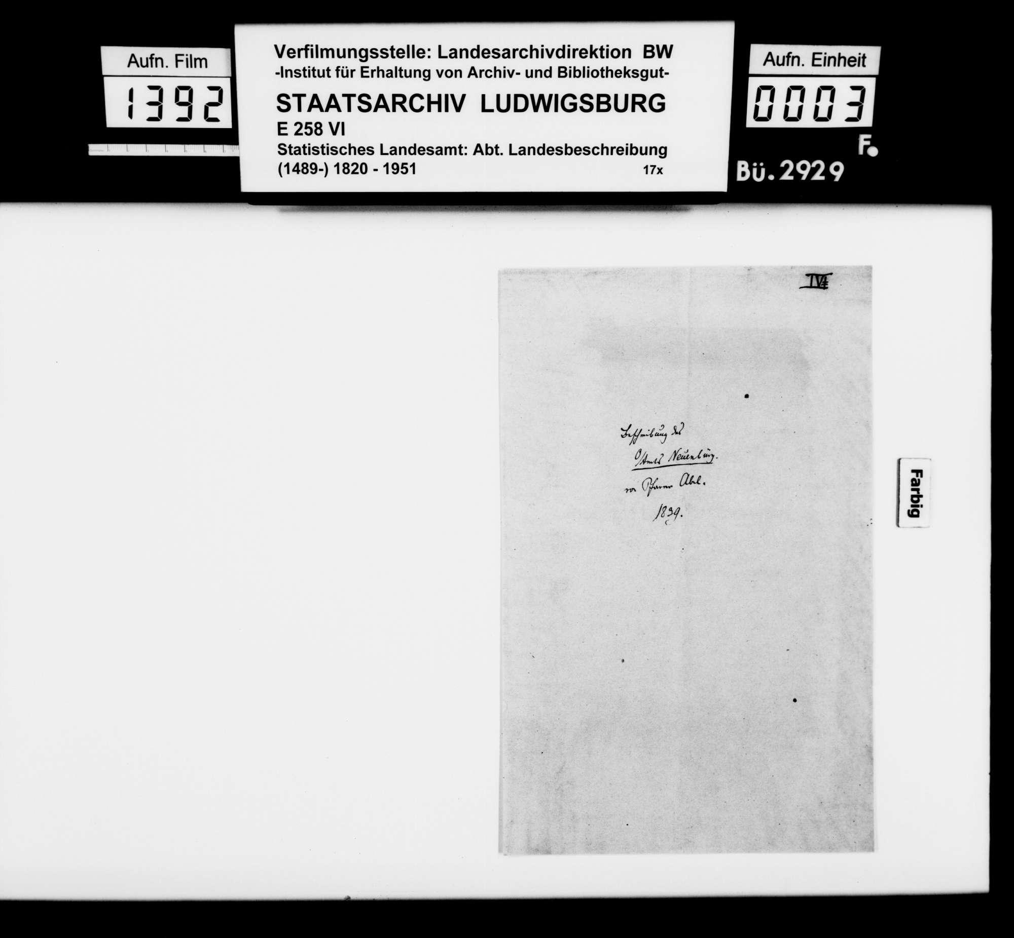 Beiträge des Pfarrers Abel aus Ottenhausen, dann Goldburghausen [Oberamt Neresheim] zur OAB, Bild 2