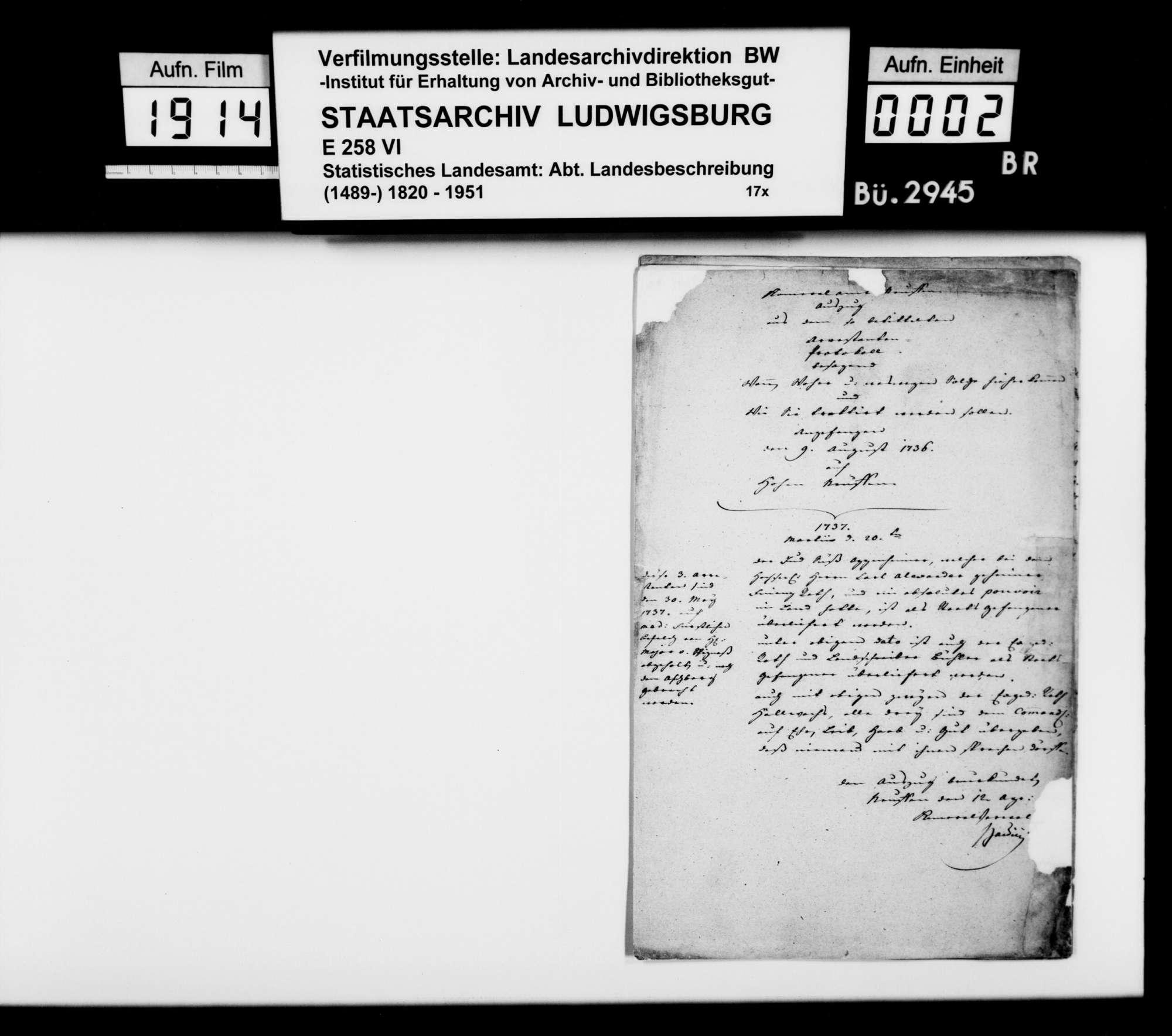 Abschriften, Auszüge und Regesten zur Geschichte von Stadt und Amt Nürtingen, Bild 1
