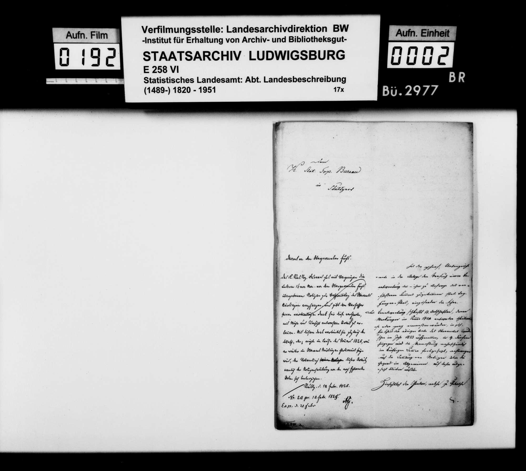 Ortsbeschreibung von 1. Raidwangen, 2. Oberensingen, 3. Hardt, 4. Zizishausen, 5. Oberboihingen, 6. Tachenhausen, 7. Reudern, 8. Frickenhausen, 9. Großbettlingen, 10. Grafenberg, 11. Altdorf, 12. Neckarhausen, 13. Wolfschlugen, [14.] Grötzingen, durch Obergeometer Fuchs, nach dem Fragenkatalog des STBs (wie folgend bei Aich), Bild 1