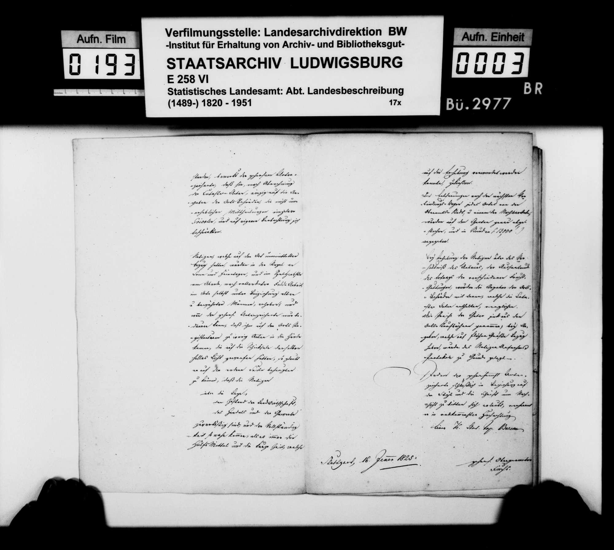 Ortsbeschreibung von 1. Raidwangen, 2. Oberensingen, 3. Hardt, 4. Zizishausen, 5. Oberboihingen, 6. Tachenhausen, 7. Reudern, 8. Frickenhausen, 9. Großbettlingen, 10. Grafenberg, 11. Altdorf, 12. Neckarhausen, 13. Wolfschlugen, [14.] Grötzingen, durch Obergeometer Fuchs, nach dem Fragenkatalog des STBs (wie folgend bei Aich), Bild 2
