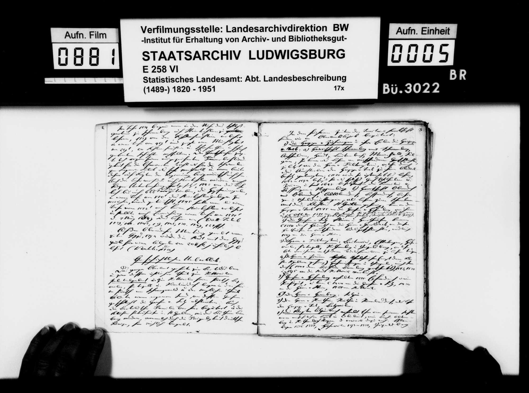 Beiträge des [Konrektors] Karl Pfaff [aus Esslingen] zur historiographischen Beschreibung des Oberamts, Bild 3