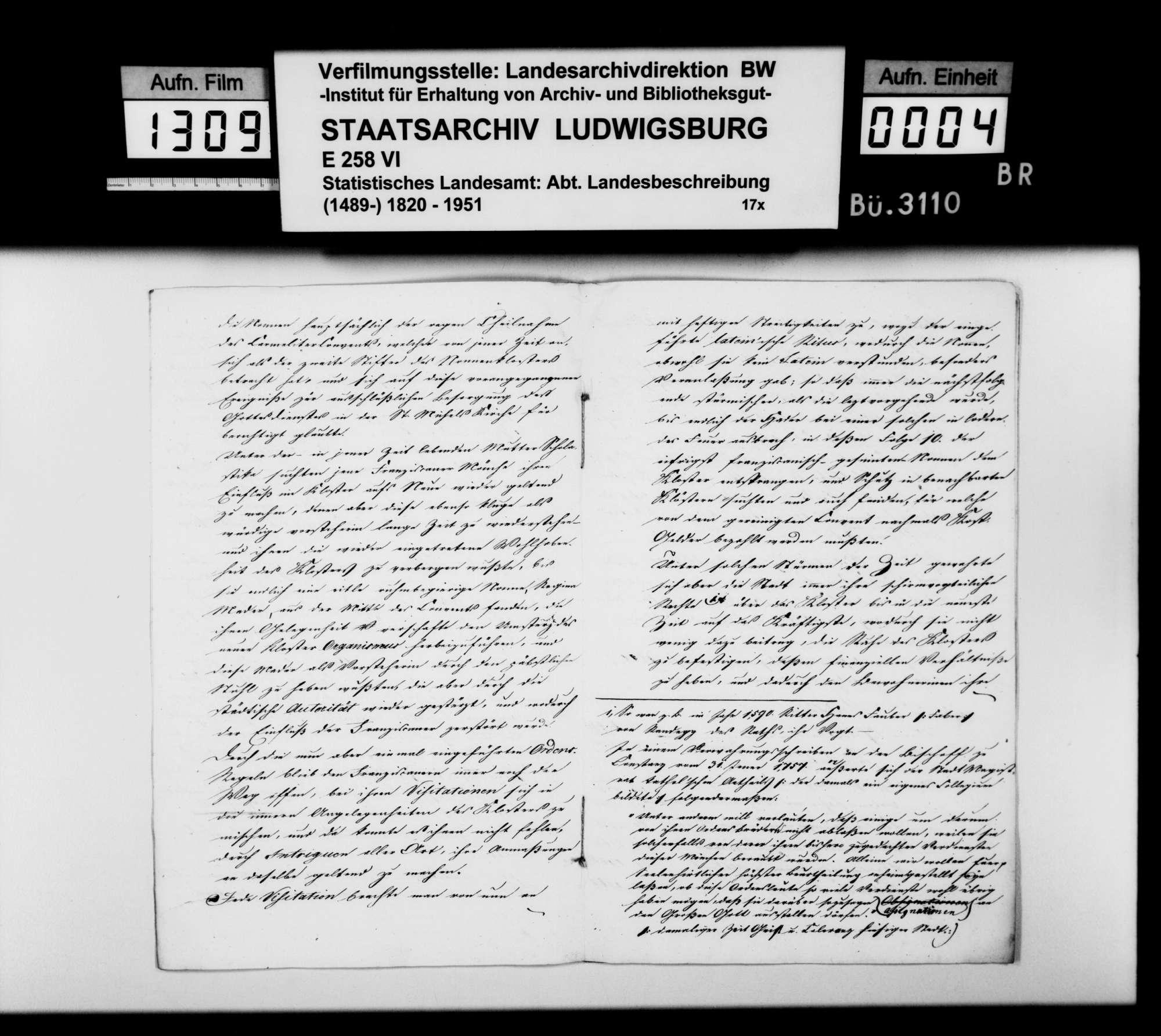 Das Franziskaner-Nonnenkloster in Ravensburg, aus Archivalien des Stadtarchivs und der Klosterregistratur erstellte Abhandlung des Verwaltungsaktuars Gutermann aus Friedrichshafen, Bild 3