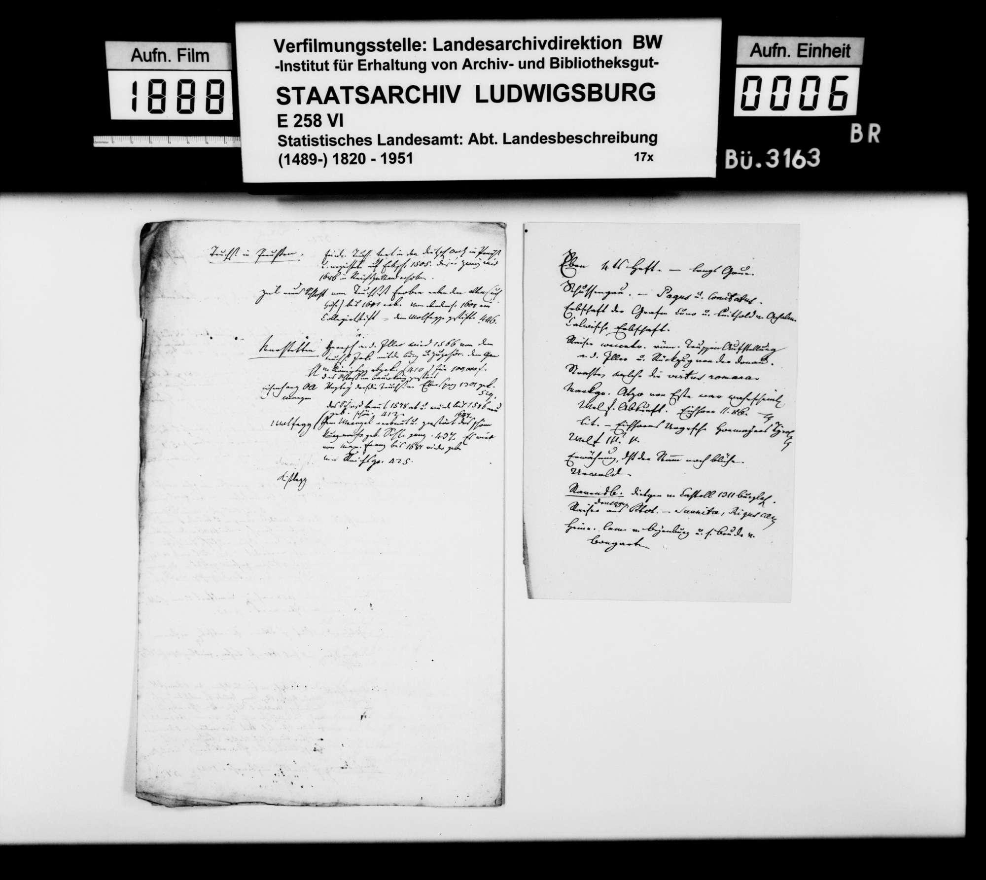 Notizen und Konzepte [von Johann Daniel Georg Memminger] zur OAB, Bild 3
