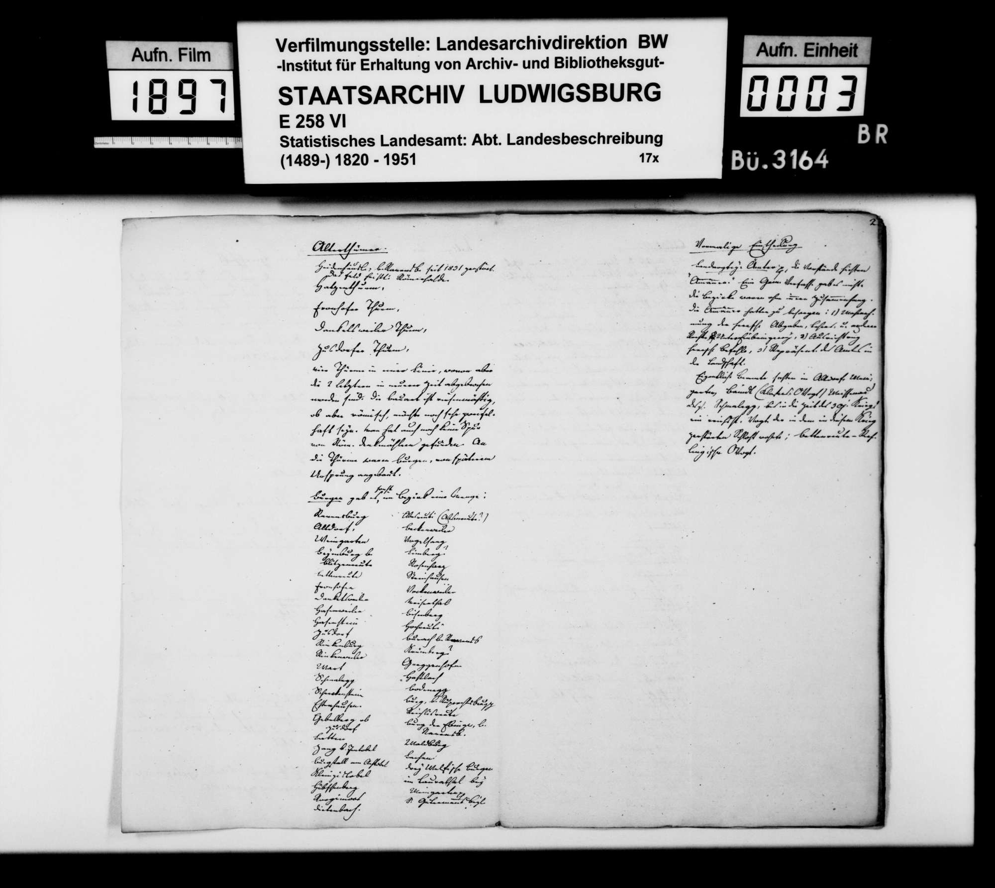 Notizen und Konzepte [von Johann Daniel Georg Memminger] zur OAB, Bild 2