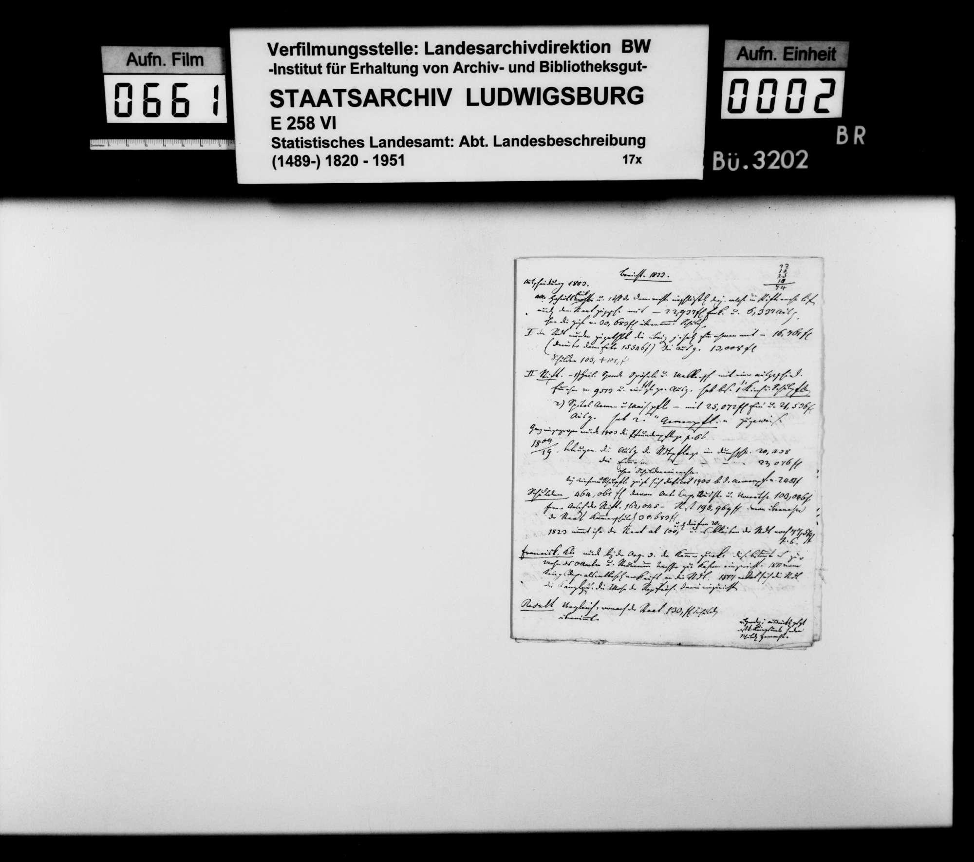 Notizen und Konzepte von Johann Daniel Georg Memminger zur OAB, Bild 1