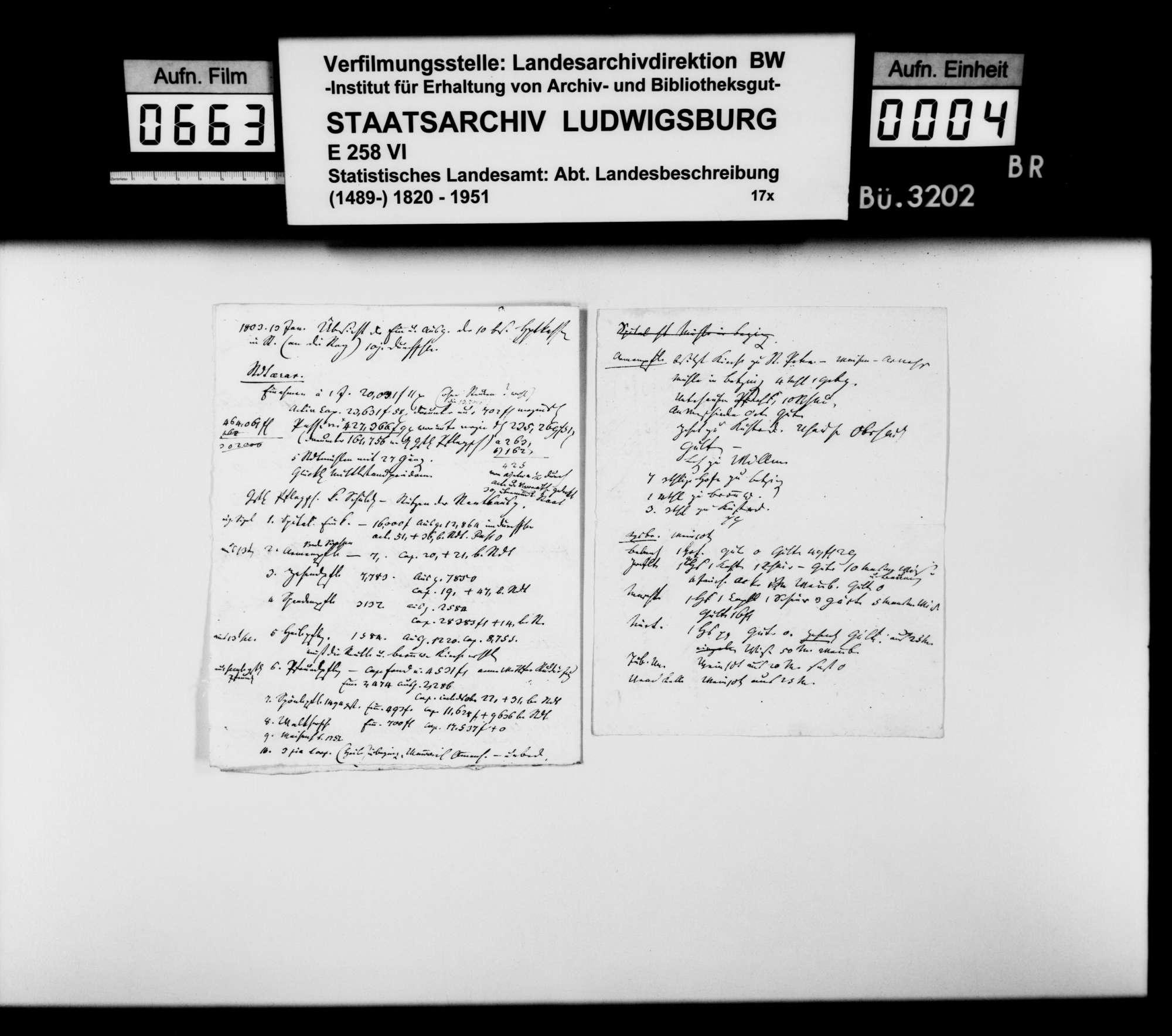 Notizen und Konzepte von Johann Daniel Georg Memminger zur OAB, Bild 3