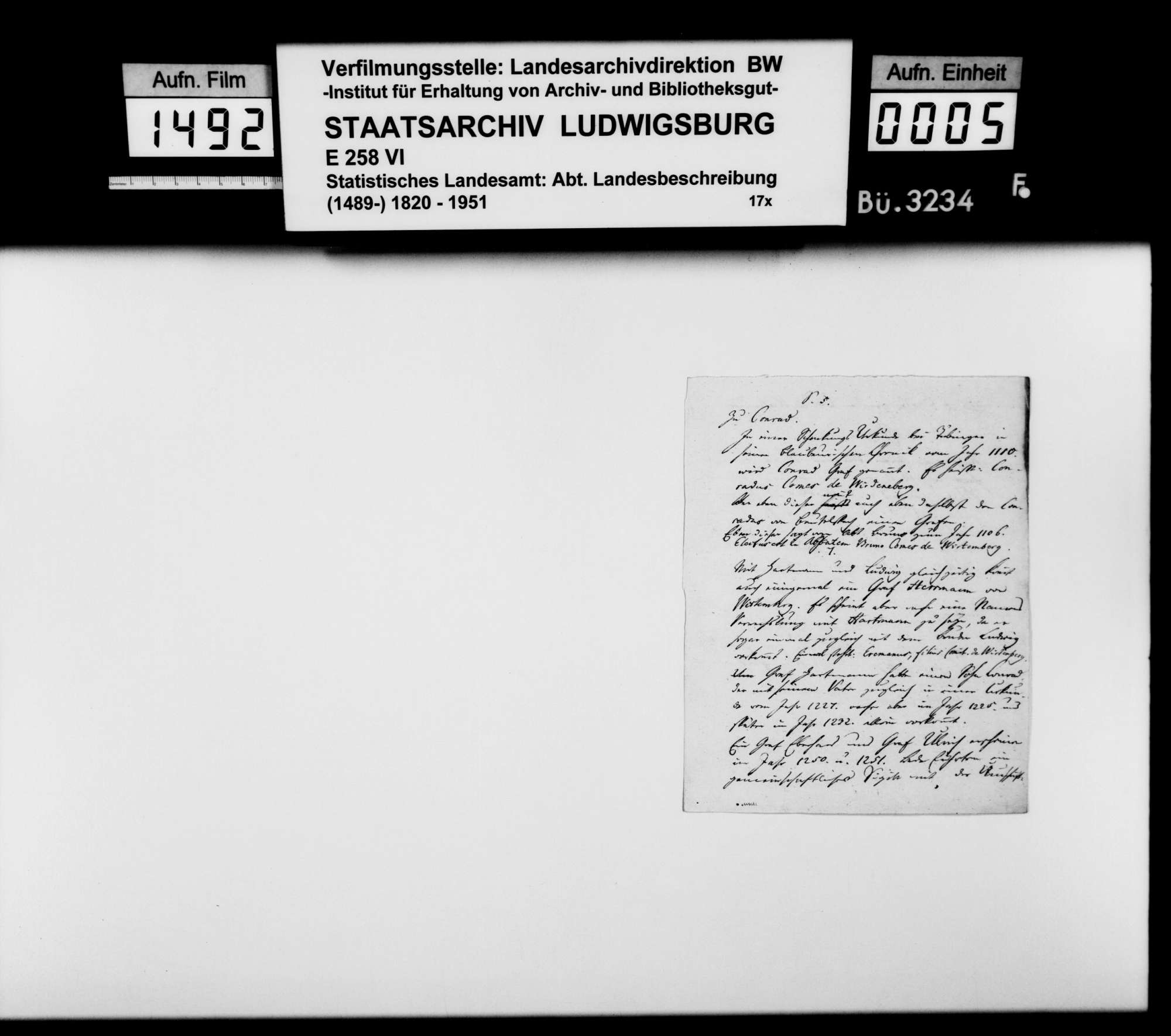 Historisches Material zum und aus dem Kloster Heiligkreuztal, zu den Grafen von Achalm, zu den Grafen von Württemberg-Grüningen-Landau und weiteres, Bild 2