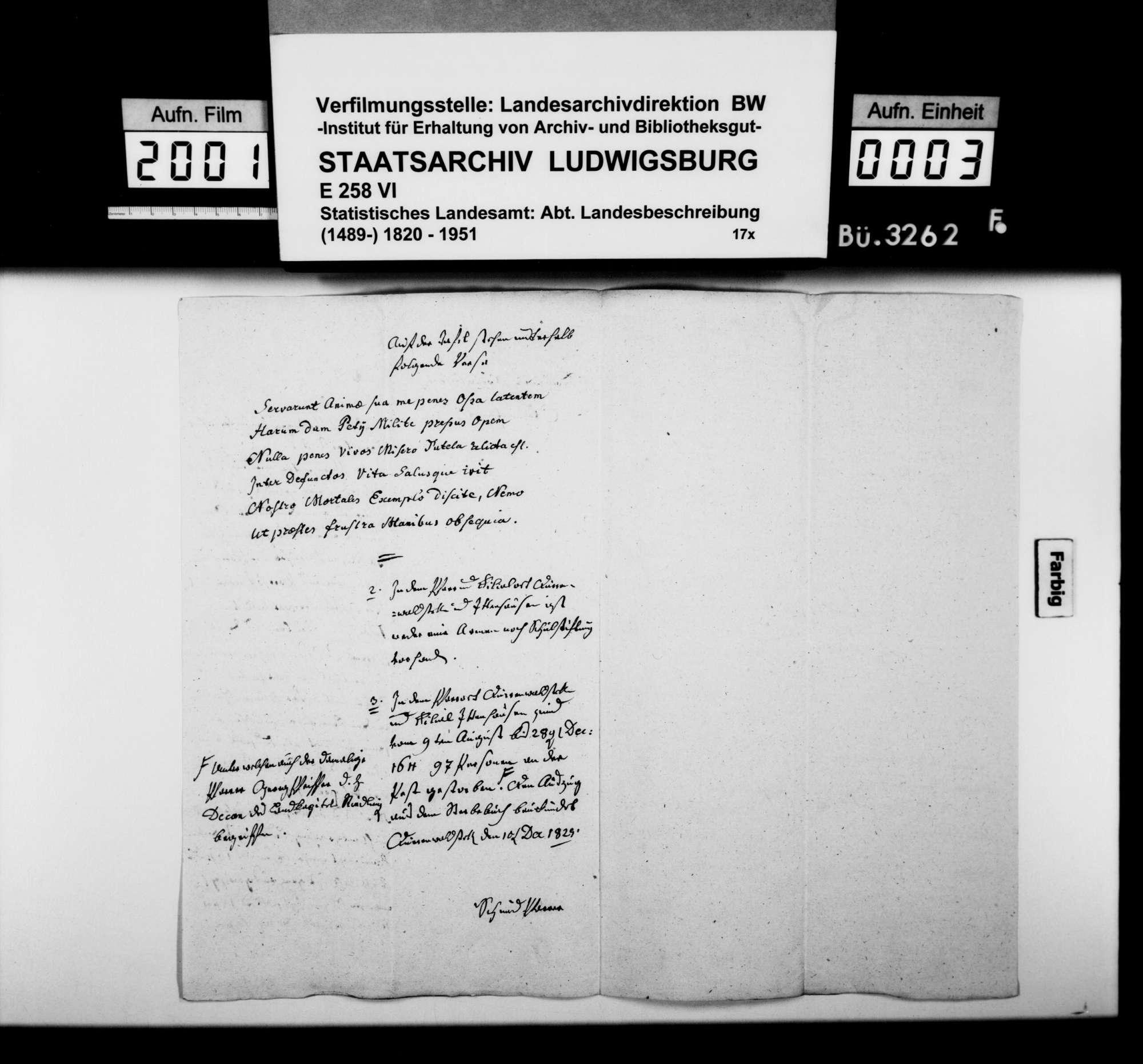 Berichte und Auskünfte an Dekan Ströbele in Riedlingen zur Beschreibung des Oberamts, Bild 2