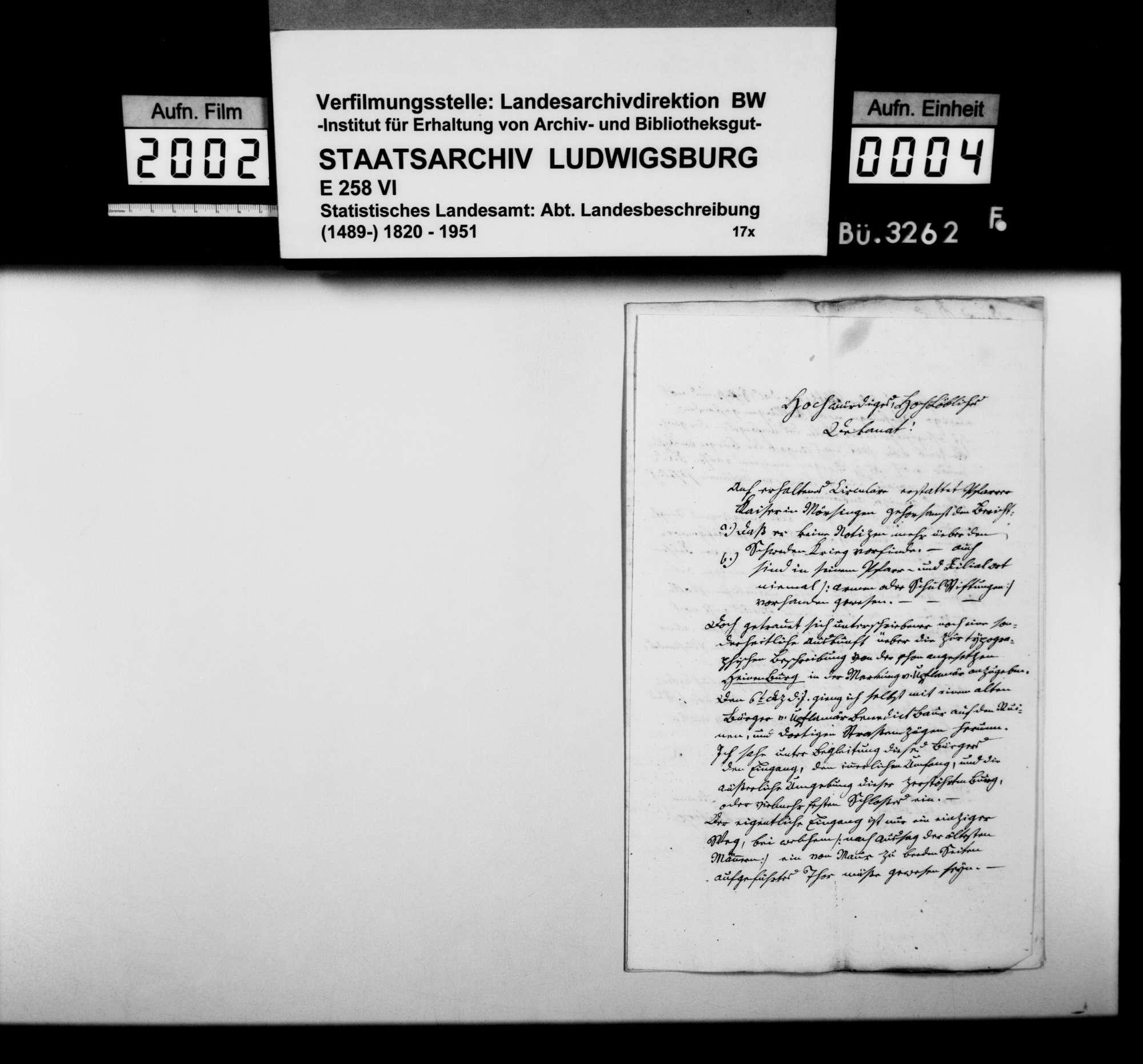 Berichte und Auskünfte an Dekan Ströbele in Riedlingen zur Beschreibung des Oberamts, Bild 3
