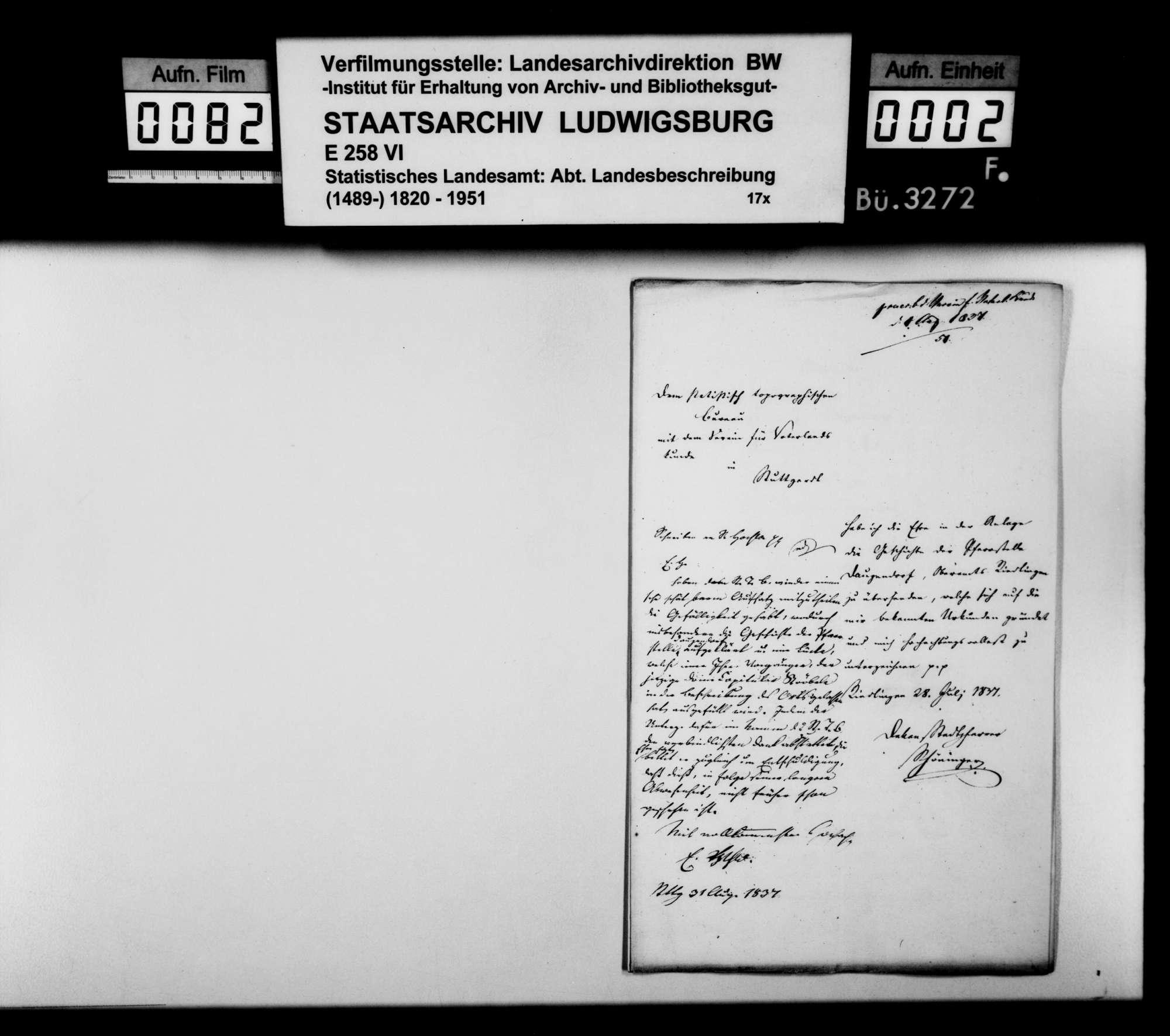 Historiographische Beiträge des Dekans Schöninger aus Riedlingen, Bild 1