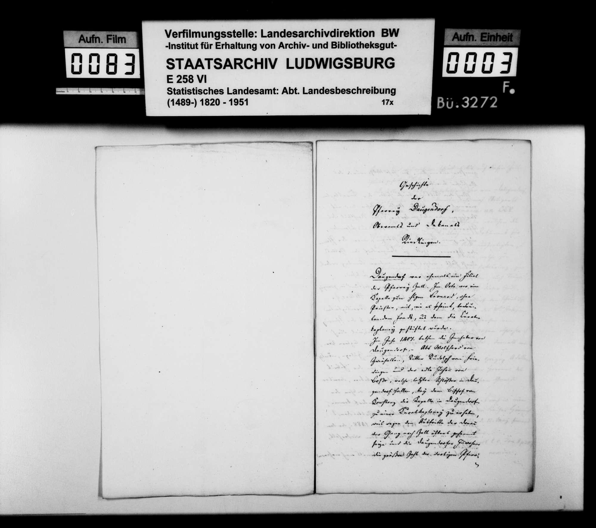Historiographische Beiträge des Dekans Schöninger aus Riedlingen, Bild 2