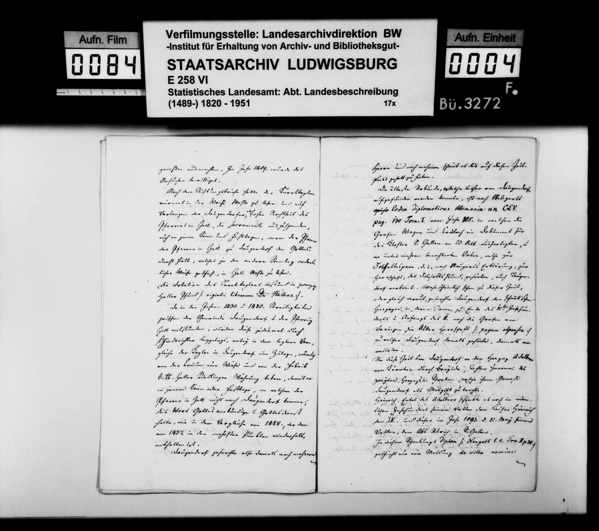 Historiographische Beiträge des Dekans Schöninger aus Riedlingen, Bild 3