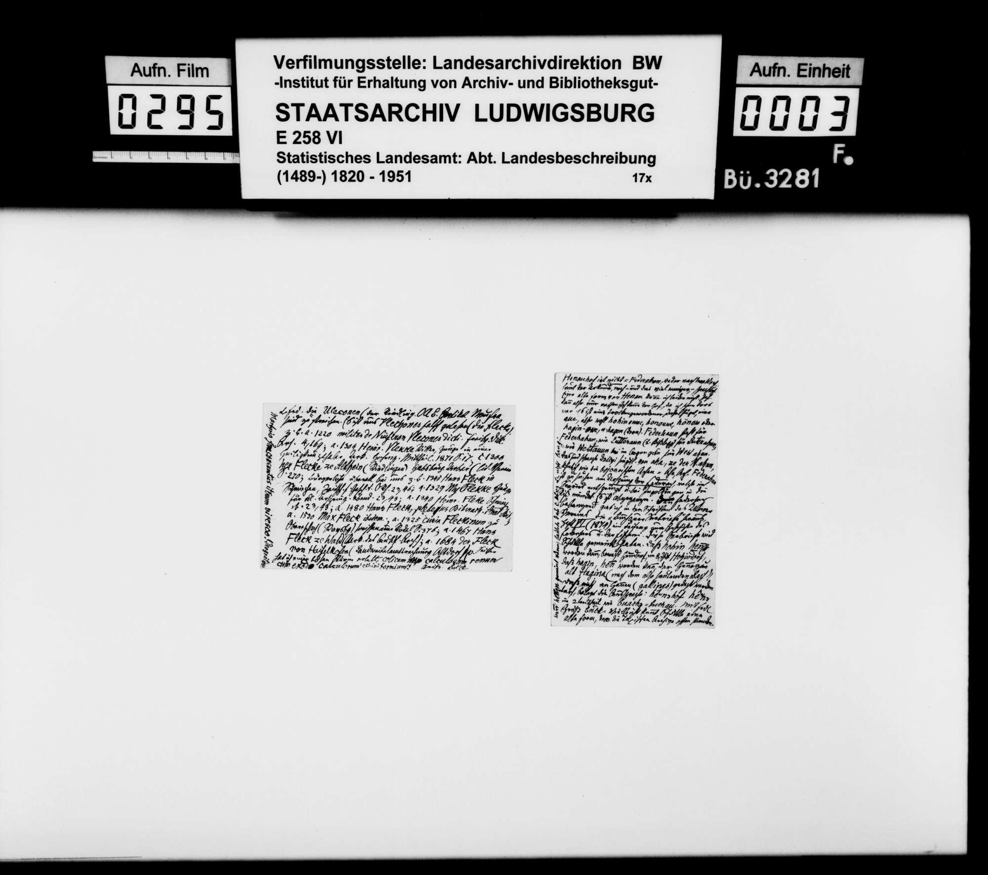 Materialsammlung für die Neubearbeitung der OAB, Bild 2
