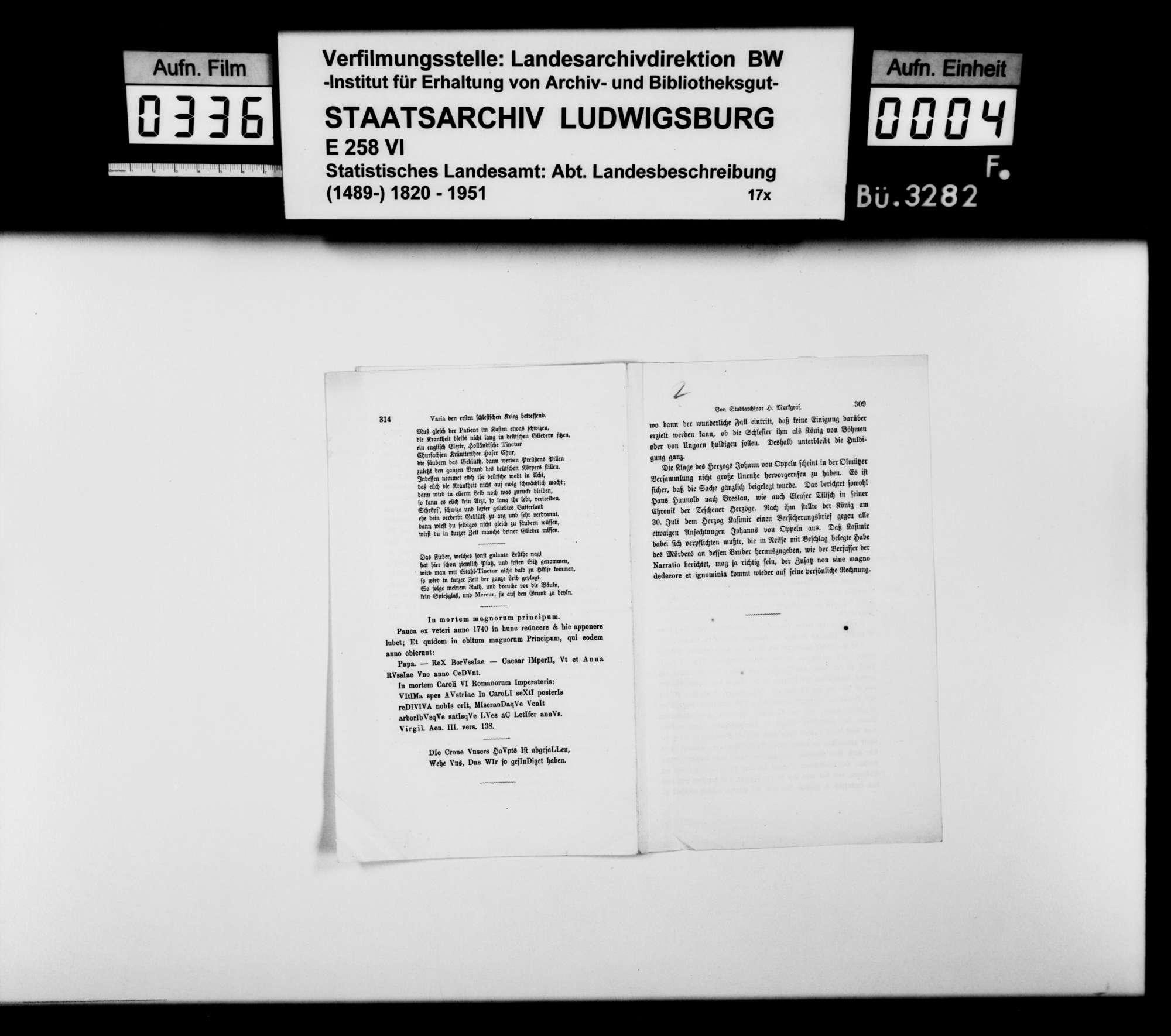 Sammlung gedruckten Materials für eine Neubearbeitung der OAB, Bild 3