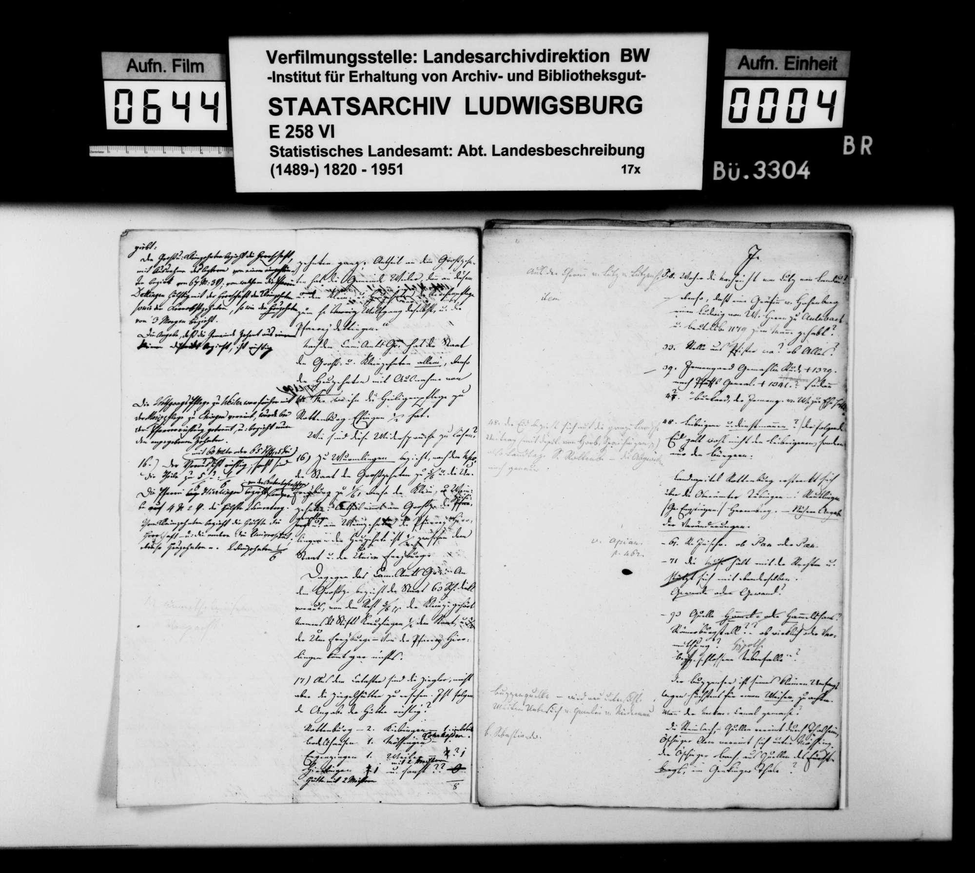 Anstände und Nachfragen des Professors Memminger, amtliche Auskünfte zum Manuskript der OAB, Bild 3