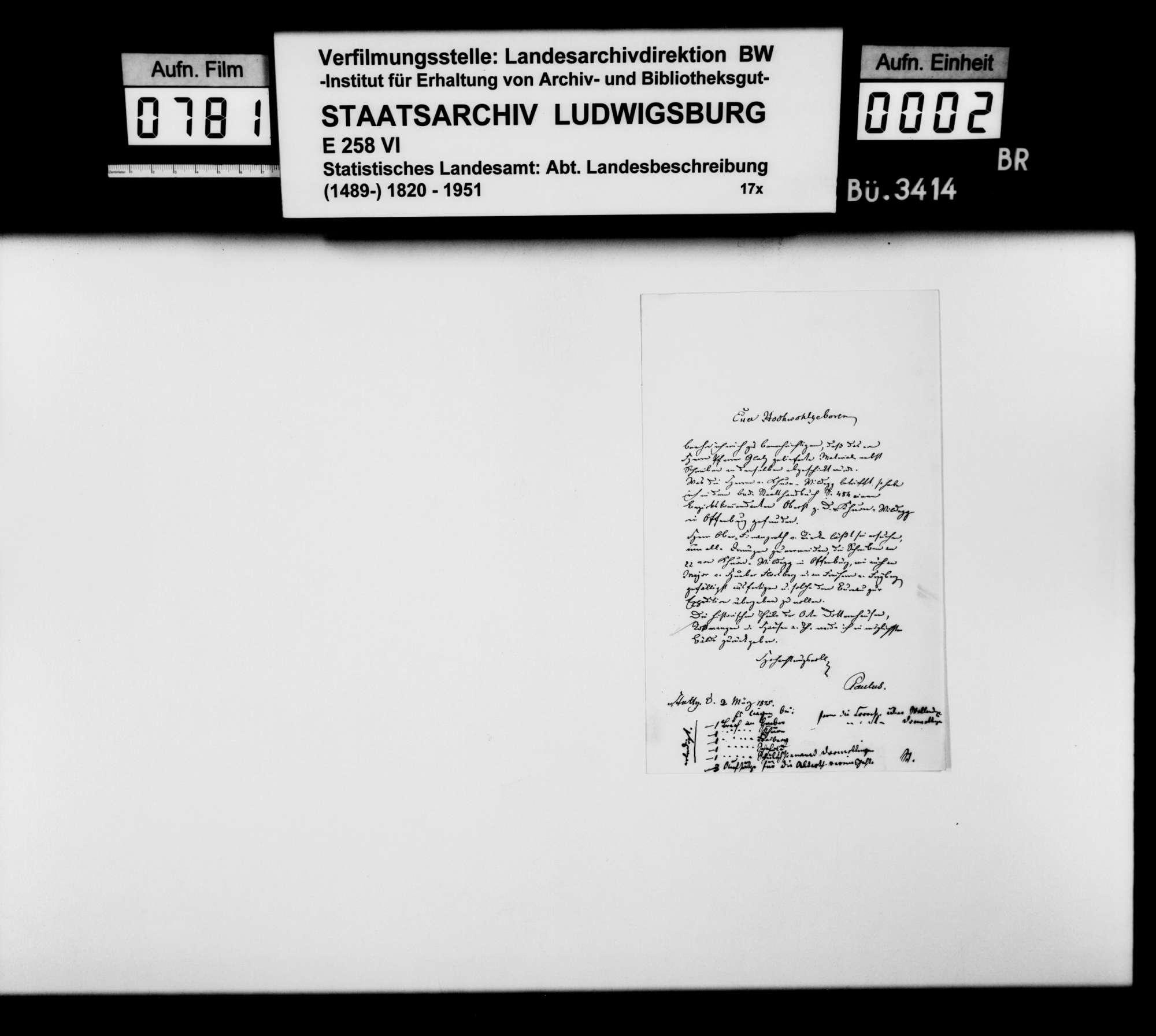 Auskünfte von Gutsverwaltern zur Besitzgeschichte adliger Grundherrschaften im Oberamt, Bild 1